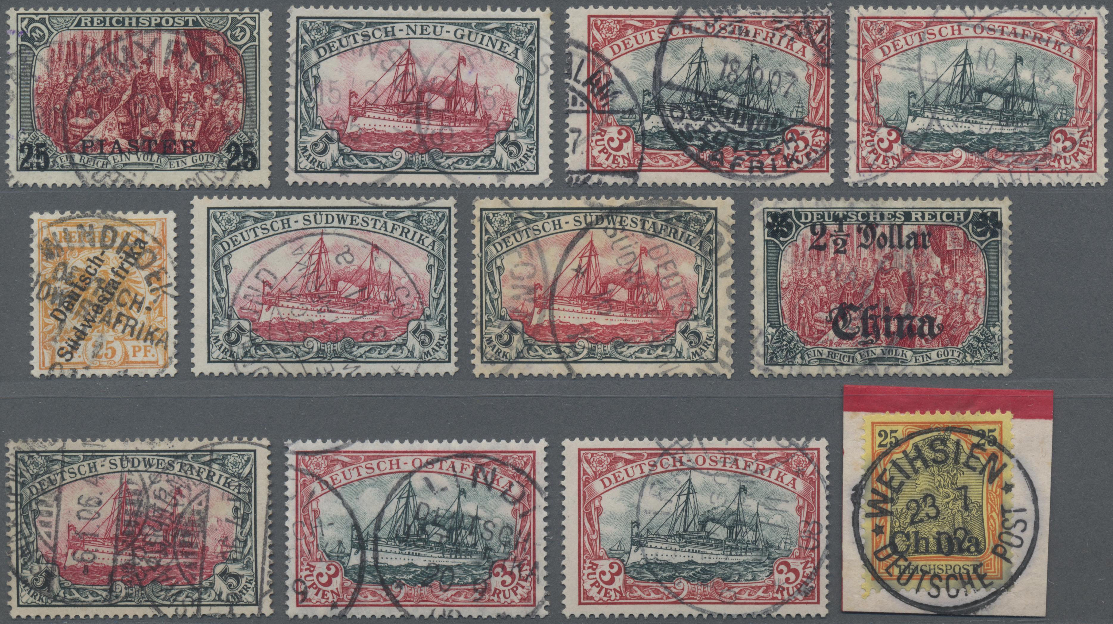 Lot 35220 - Deutsche Auslandspostämter + Kolonien  -  Auktionshaus Christoph Gärtner GmbH & Co. KG Sale #44 Collections Germany
