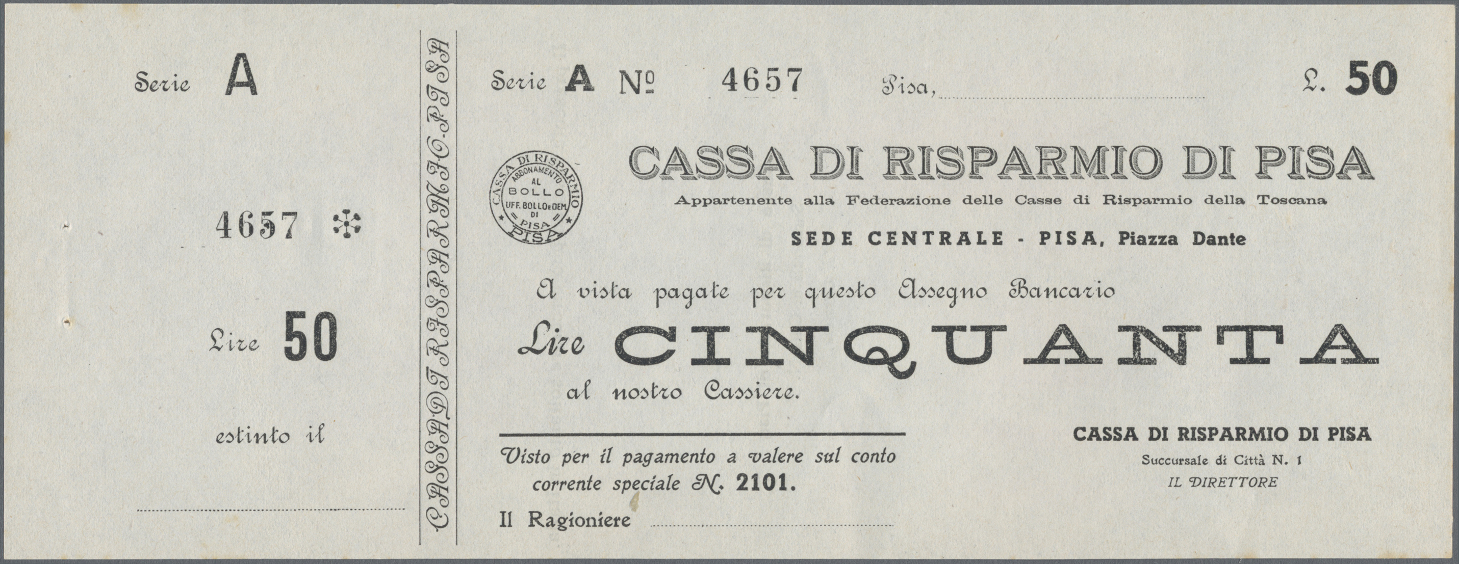 Lot 00471 - Italy / Italien   Banknoten  -  Auktionshaus Christoph Gärtner GmbH & Co. KG Sale #48 The Banknotes