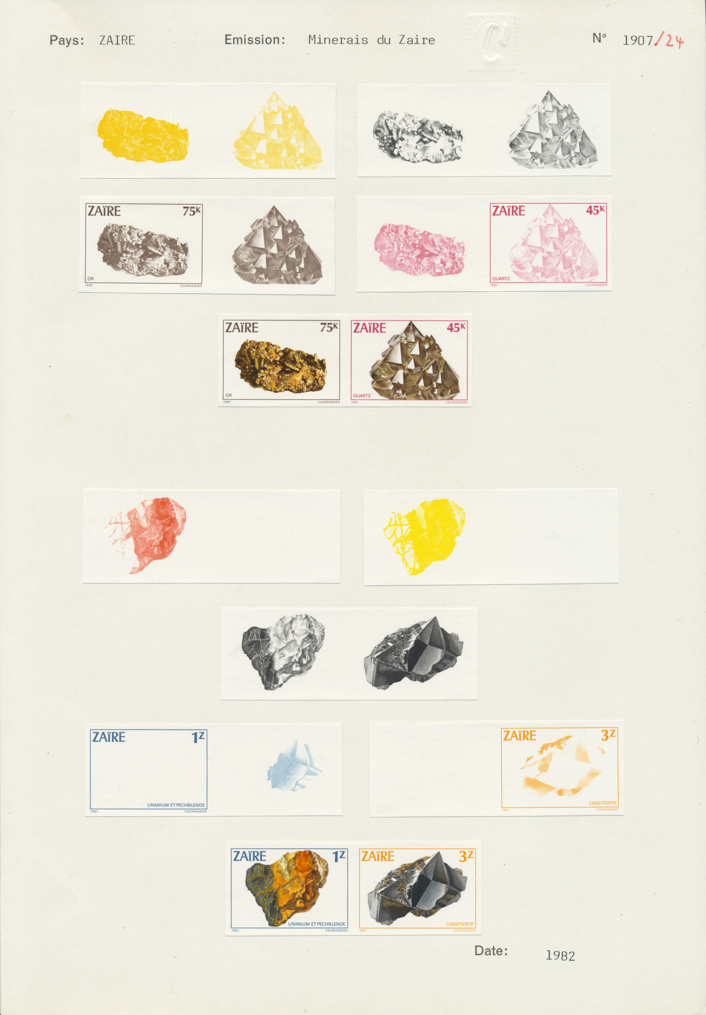 Lot 11484 - thematik: mineralien / minerals  -  Auktionshaus Christoph Gärtner GmbH & Co. KG Single lots Philately Overseas & Europe. Auction #39 Day 4