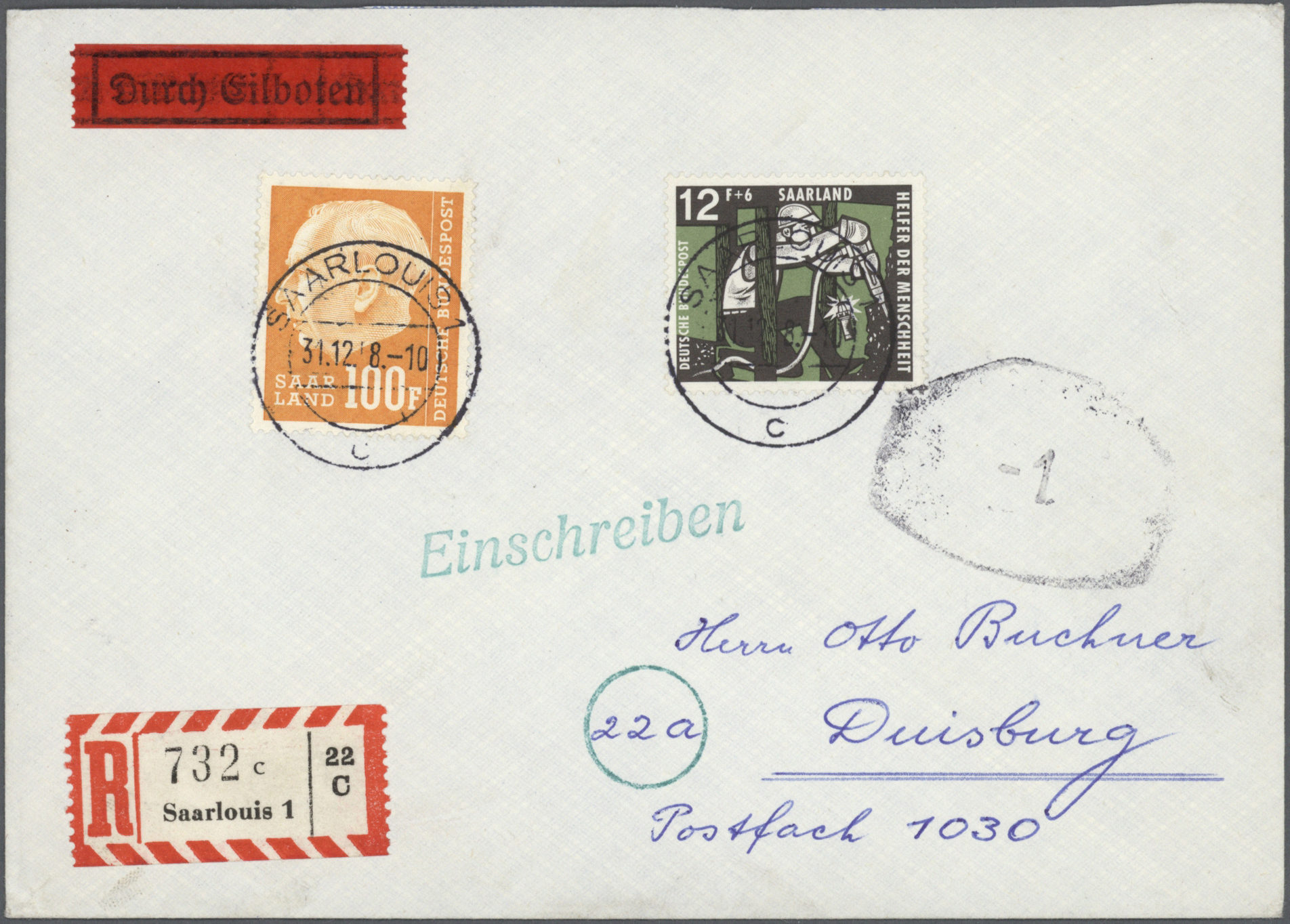 Lot 38283 - Saarland (1947/56)  -  Auktionshaus Christoph Gärtner GmbH & Co. KG Collections Germany,  Collections Supplement, Surprise boxes #39 Day 7