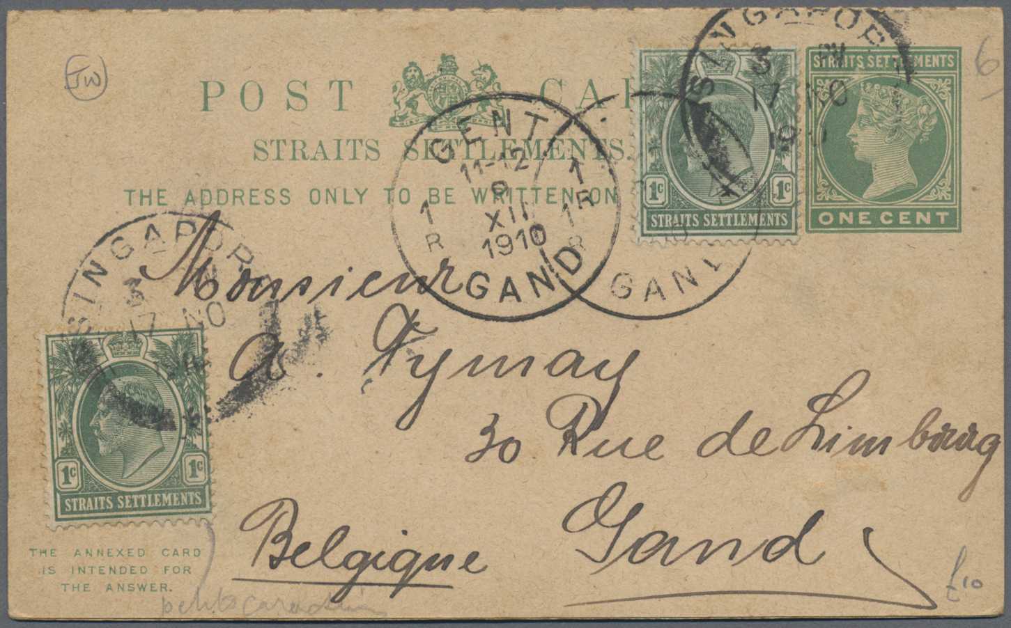 Lot 34708 - Malaiische Staaten - Straits Settlements  -  Auktionshaus Christoph Gärtner GmbH & Co. KG Sale #44 Collections Germany