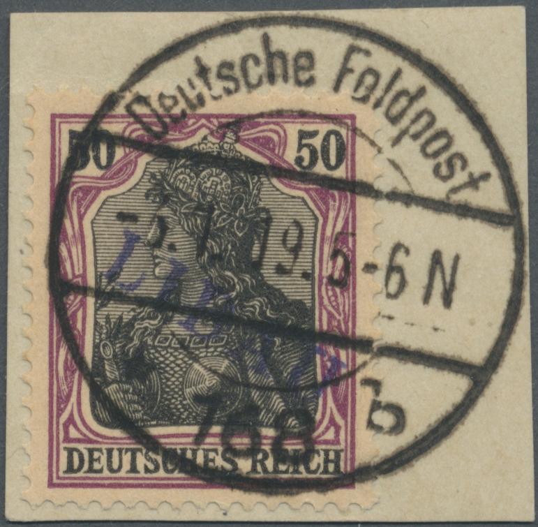 Lot 22684 - Deutsche Besetzung I. WK: Postgebiet Ober. Ost - Libau  -  Auktionshaus Christoph Gärtner GmbH & Co. KG Single lots Germany + Picture Postcards. Auction #39 Day 5