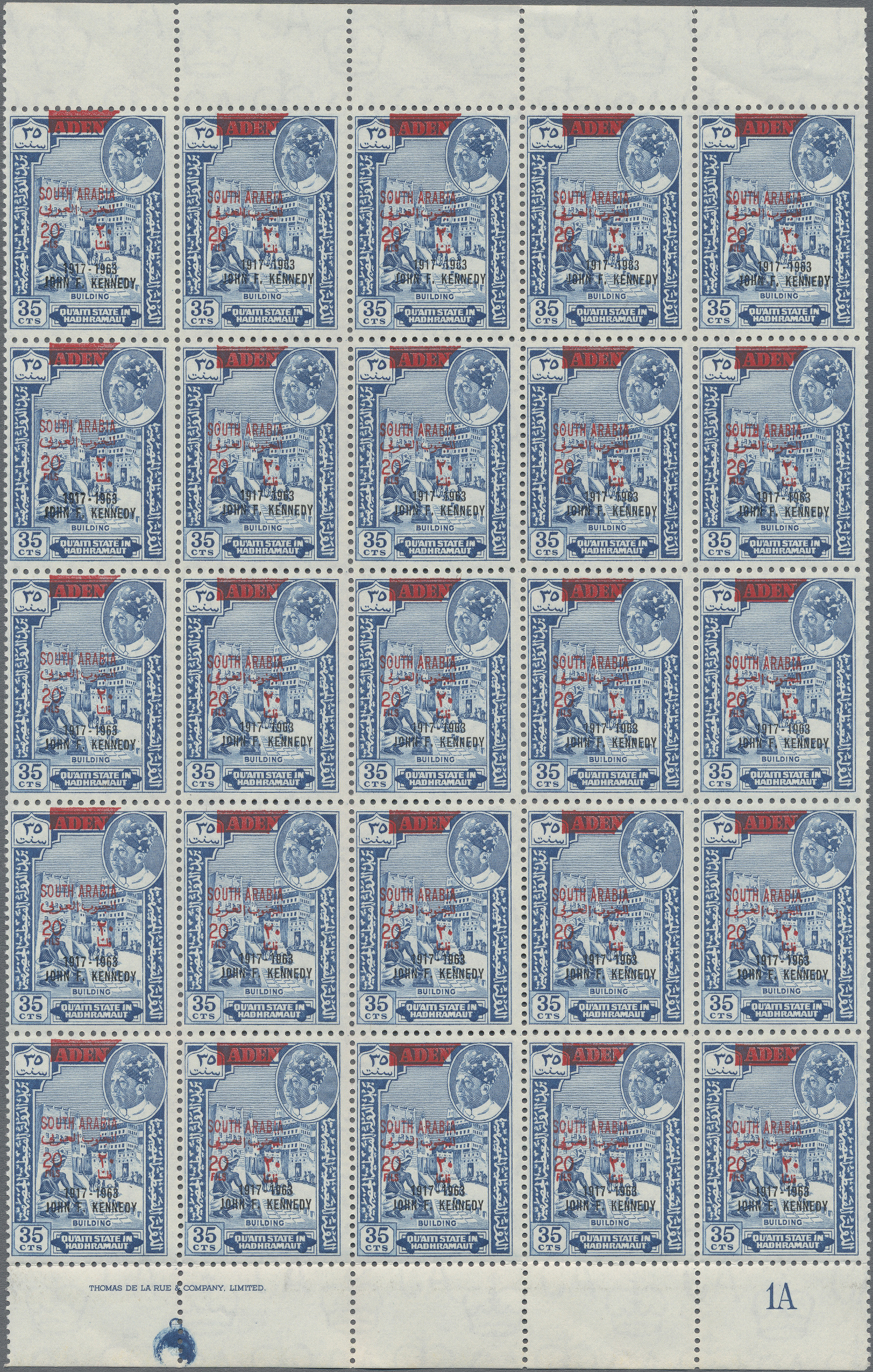 Lot 05005 - Aden - Qu'aiti State in Hadhramaut  -  Auktionshaus Christoph Gärtner GmbH & Co. KG Sale #49 Single lots Asia, Thematics, Oversea, Europe, Old German States, Third Reich, German Colonies and the Federal Republic of Germany