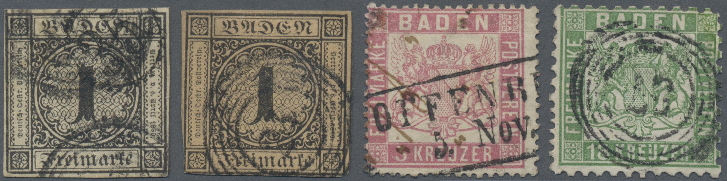 Lot 36152 - Baden - Marken und Briefe  -  Auktionshaus Christoph Gärtner GmbH & Co. KG Sale #44 Collections Germany