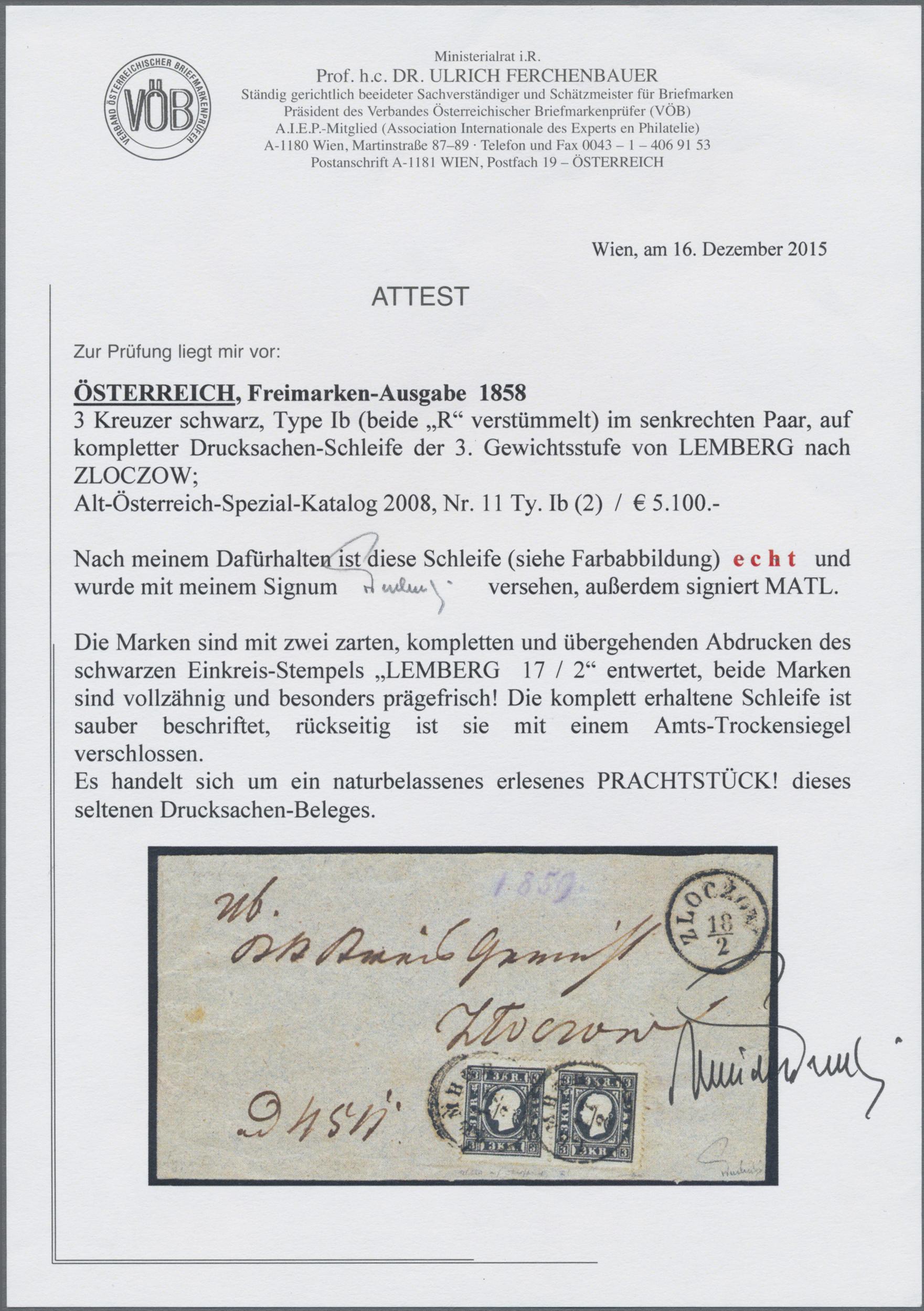 Lot 09492 - österreich  -  Auktionshaus Christoph Gärtner GmbH & Co. KG Sale #48 The Single Lots Philatelie
