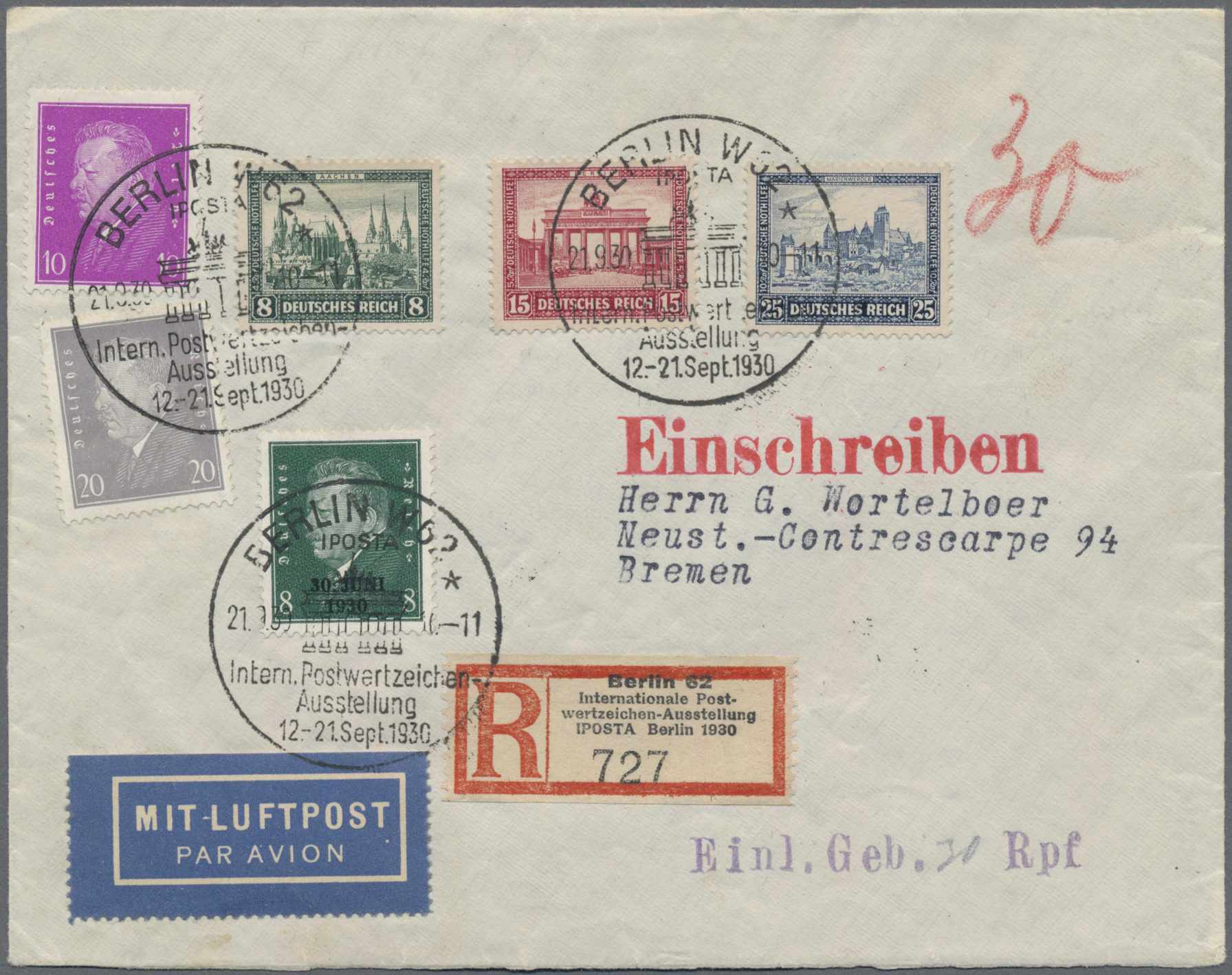 Lot 36685 - Deutsches Reich - Weimar  -  Auktionshaus Christoph Gärtner GmbH & Co. KG Sale #44 Collections Germany