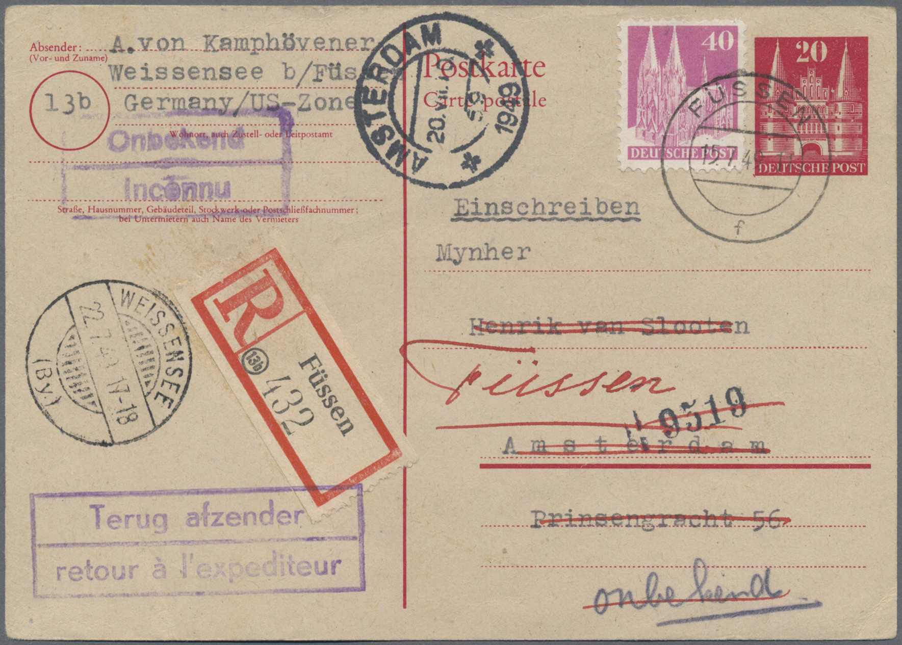 Lot 17622 - Bizone - Ganzsachen  -  Auktionshaus Christoph Gärtner GmbH & Co. KG Sale #46 Single lots Germany - and picture post cards
