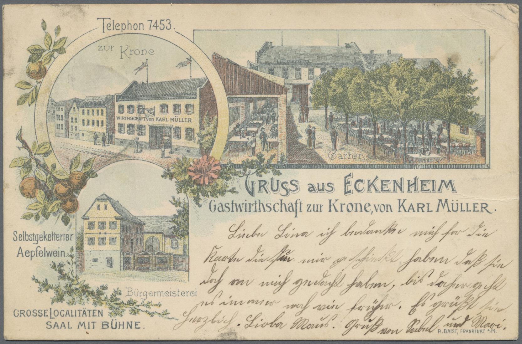 Lot 04544 - Ansichtskarten: Hessen  -  Auktionshaus Christoph Gärtner GmbH & Co. KG Sale #48 The Coins & The Picture Post Cards