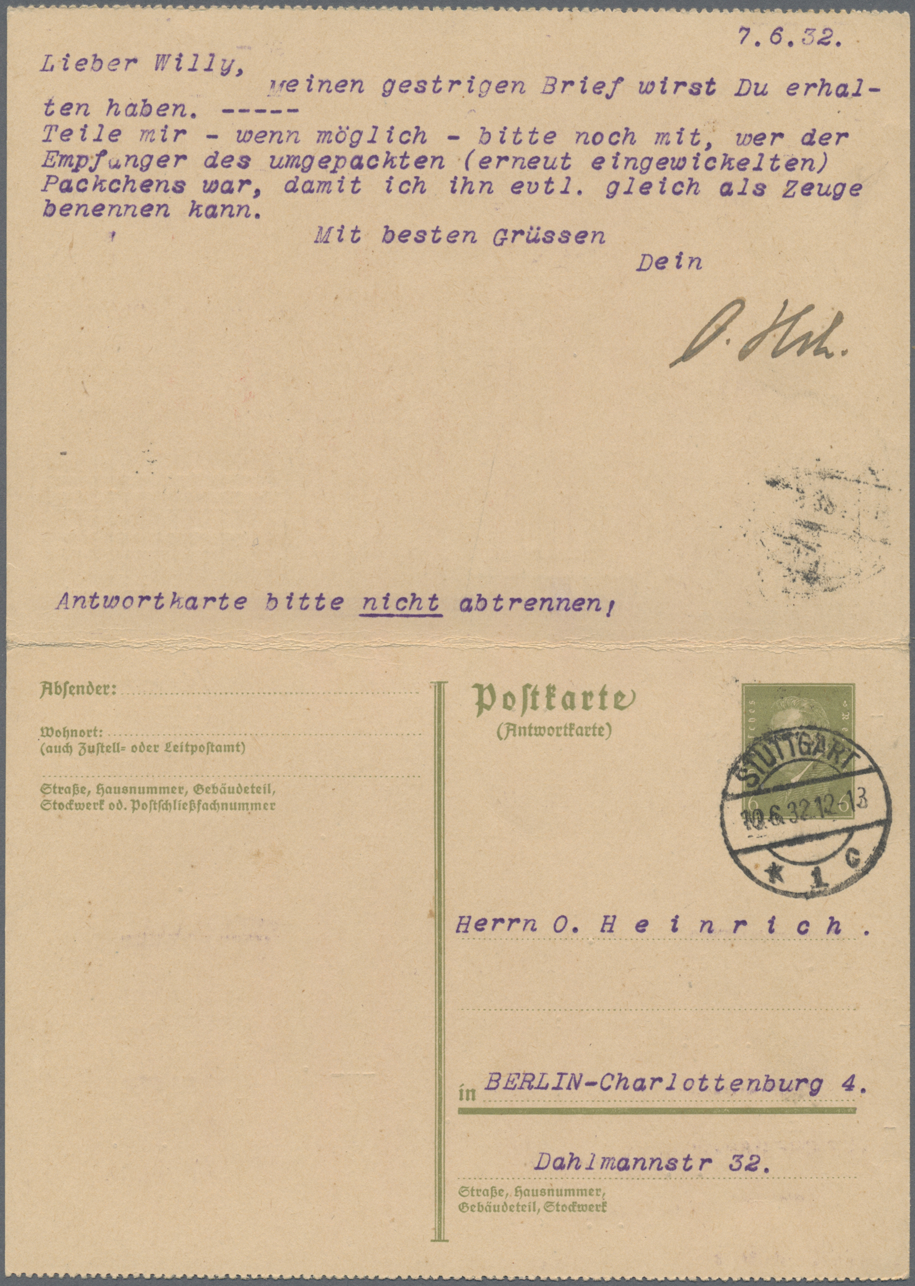 Lot 15043 - Deutsches Reich - Ganzsachen  -  Auktionshaus Christoph Gärtner GmbH & Co. KG Sale #46 Single lots Germany - and picture post cards