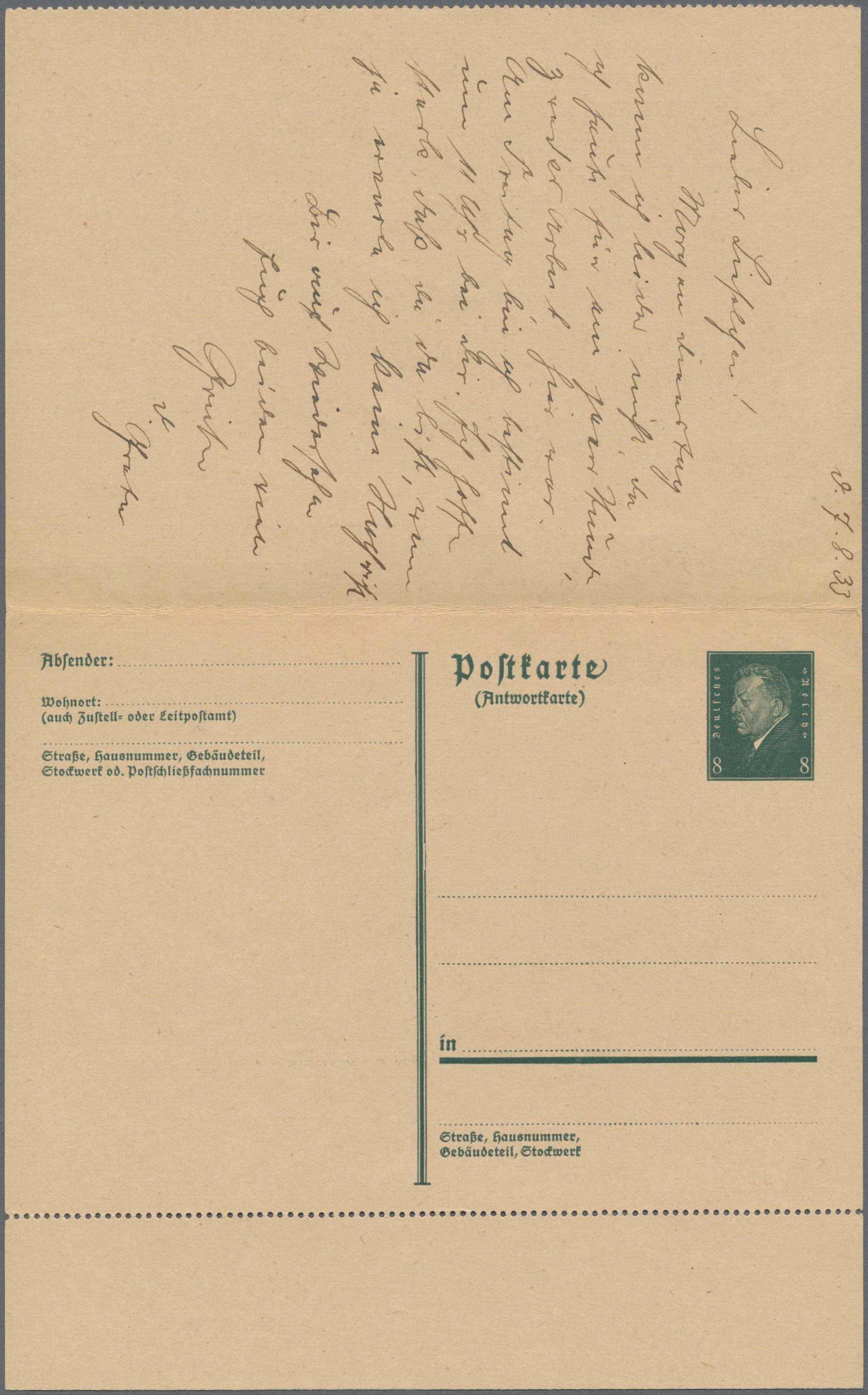Lot 15041 - Deutsches Reich - Ganzsachen  -  Auktionshaus Christoph Gärtner GmbH & Co. KG Sale #46 Single lots Germany - and picture post cards