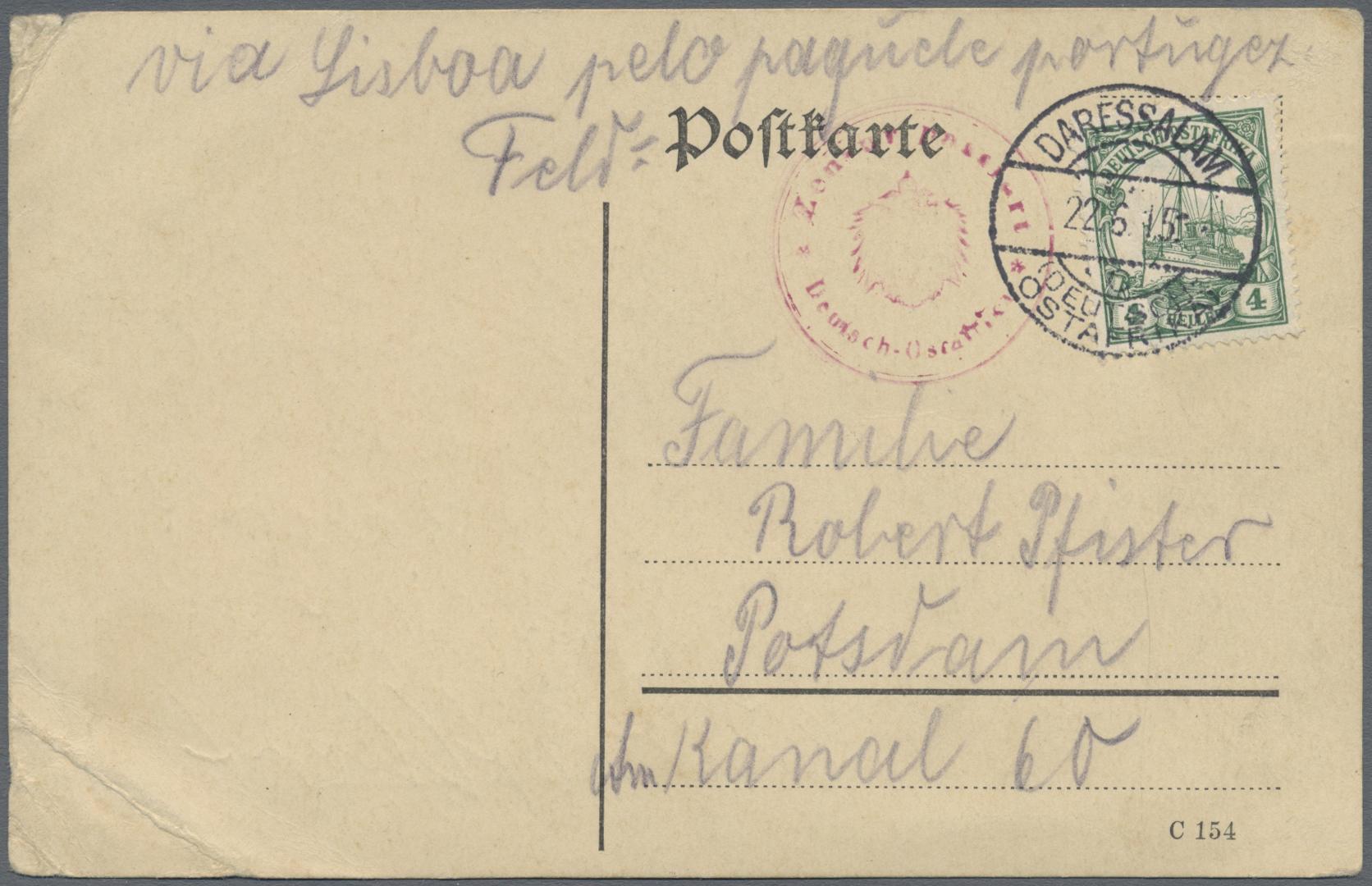 Lot 11854 - deutsch-ostafrika  -  Auktionshaus Christoph Gärtner GmbH & Co. KG 50th Auction Anniversary Auction - Day 4