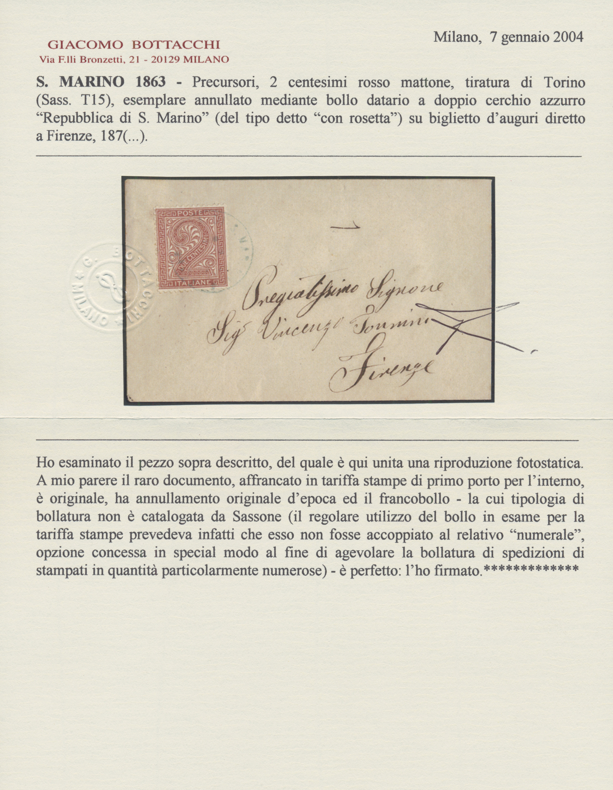 Lot 1073 - San Marino - Stempel  -  Auktionshaus Christoph Gärtner GmbH & Co. KG Auction #41 Special auction part one