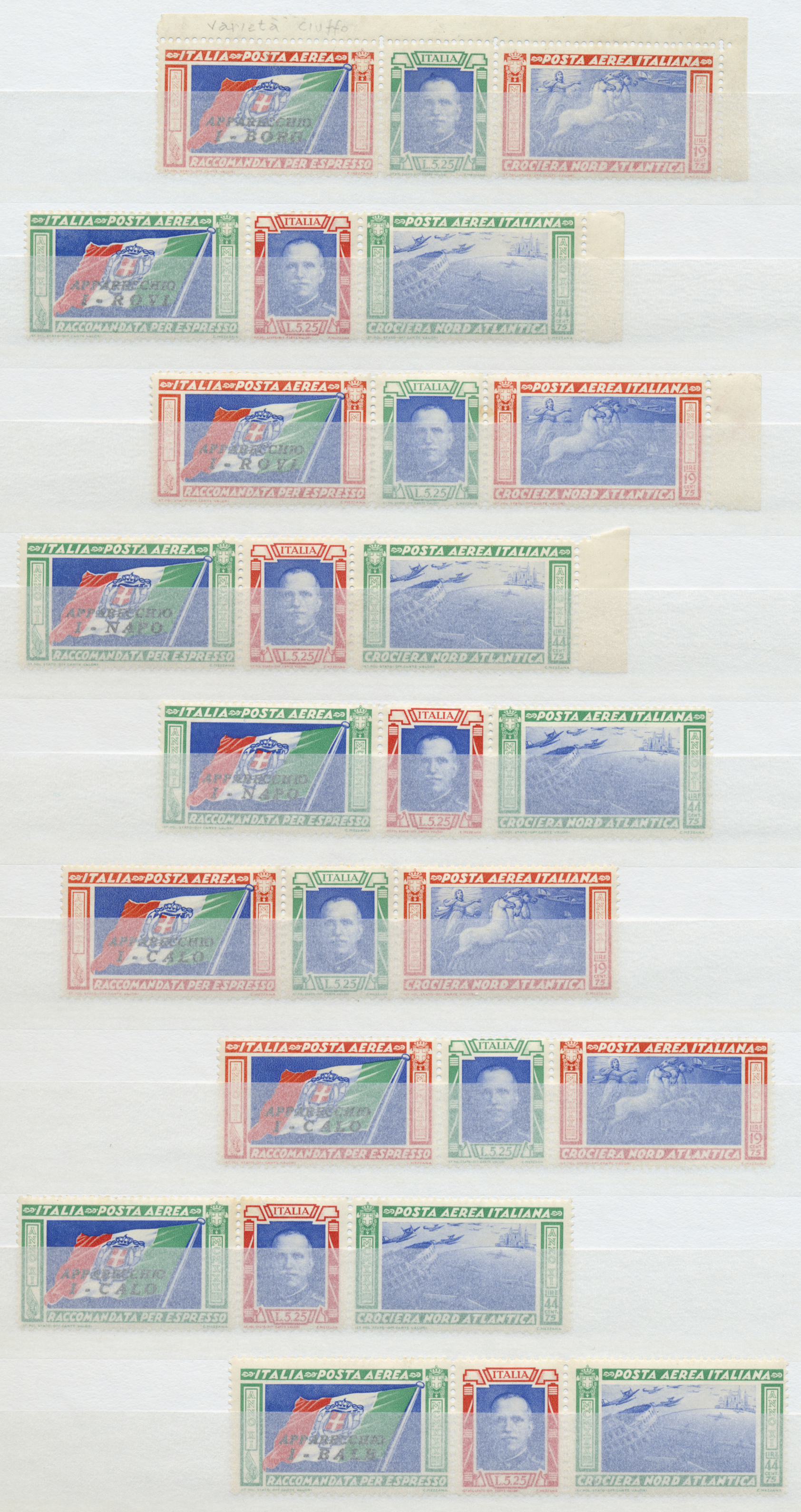 Lot 17302 - italien  -  Auktionshaus Christoph Gärtner GmbH & Co. KG Sale #48 collections Overseas  Airmail / Ship mail & Thematics
