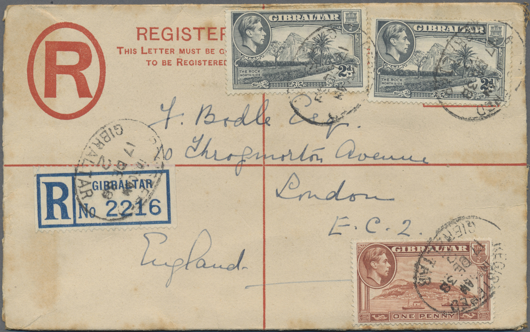 Lot 01810 - Gibraltar - Ganzsachen  -  Auktionshaus Christoph Gärtner GmbH & Co. KG Special Auction 26.- 28. May 2020 Day 2 Collections Part 2