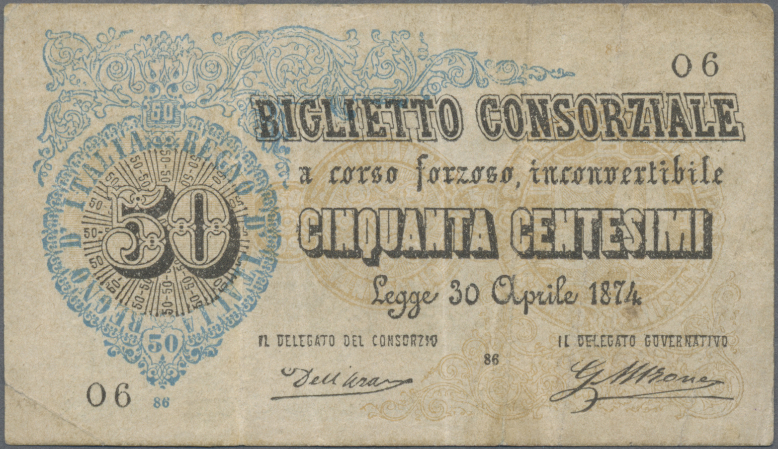 Lot 01054 - Italy / Italien | Banknoten  -  Auktionshaus Christoph Gärtner GmbH & Co. KG Sale #48 The Banknotes