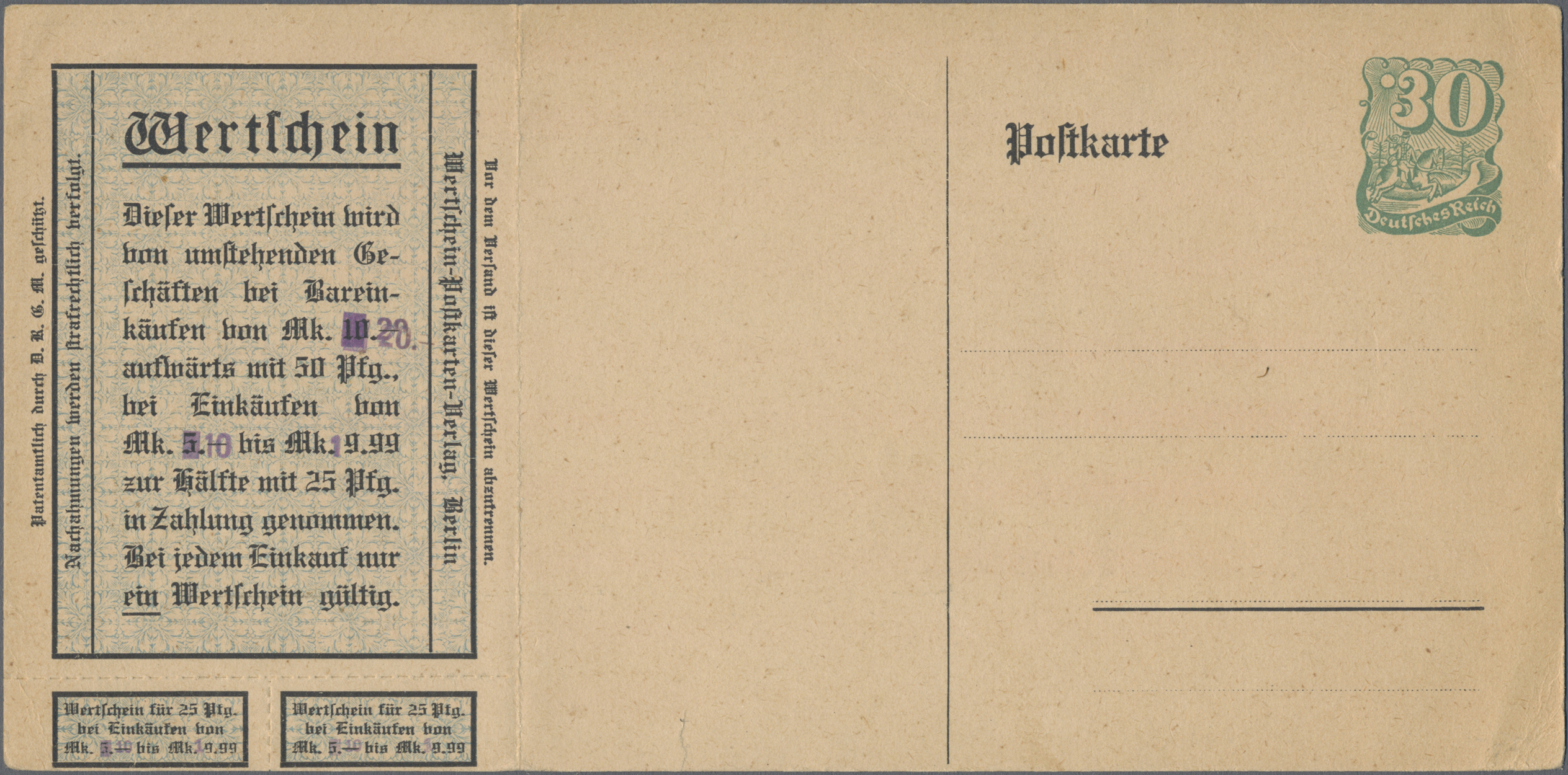 Lot 23536 - Deutsches Reich - Privatganzsachen  -  Auktionshaus Christoph Gärtner GmbH & Co. KG Sale #49 Collections Overseas, Thematics, Europe, Germany/Estates