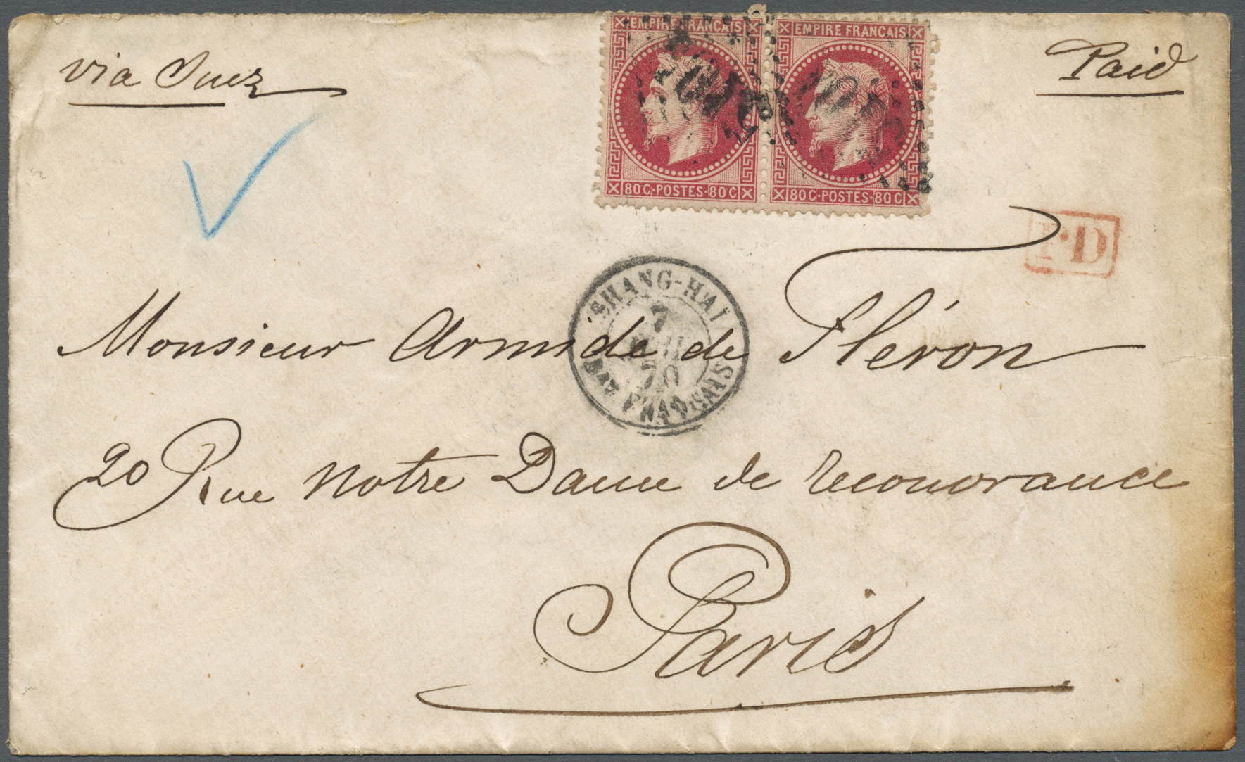 Lot 04024 - China - Fremde Postanstalten / Foreign Offices  -  Auktionshaus Christoph Gärtner GmbH & Co. KG Special Auction 26.- 28. May 2020