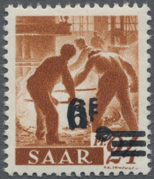 Lot 01414 - Saarland (1947/56)  -  Auktionshaus Christoph Gärtner GmbH & Co. KG 50th Auction Anniversary Auction - Day 3
