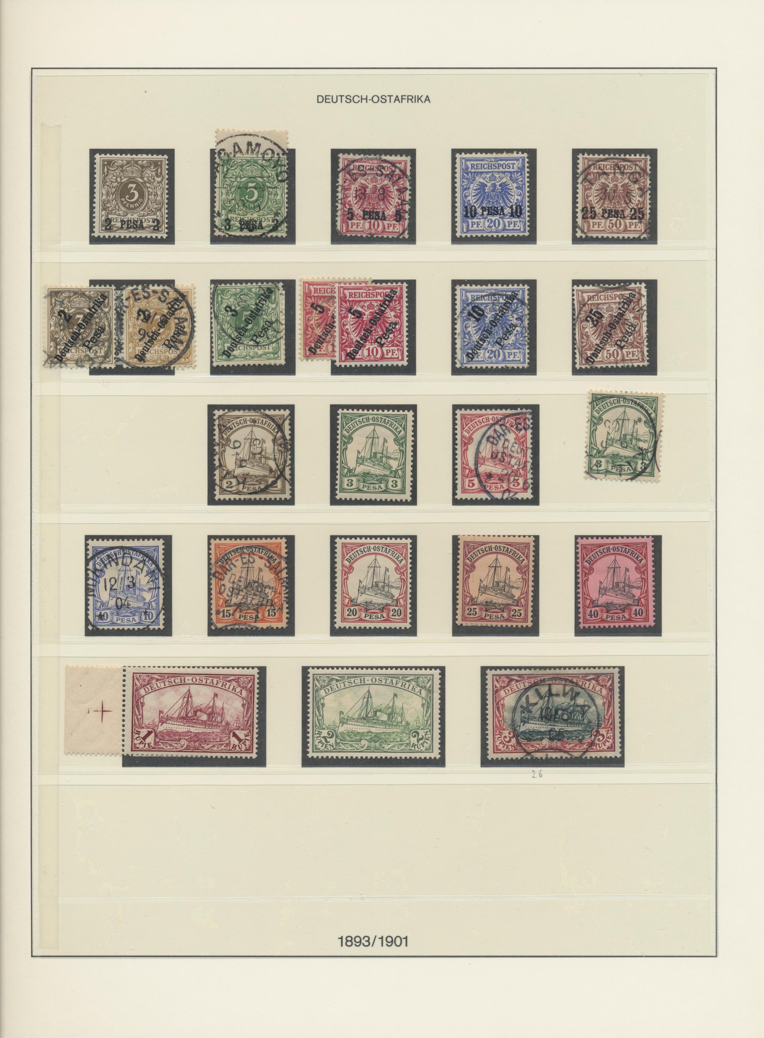 Lot 36901 - Deutsche Auslandspostämter + Kolonien  -  Auktionshaus Christoph Gärtner GmbH & Co. KG Sale #44 Collections Germany