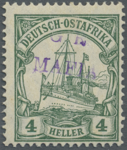 Lot 18600 - Deutsch-Ostafrika - Britische Besetzung (Mafia)  -  Auktionshaus Christoph Gärtner GmbH & Co. KG Auction #40 Germany, Picture Post Cards, Collections Overseas, Thematics