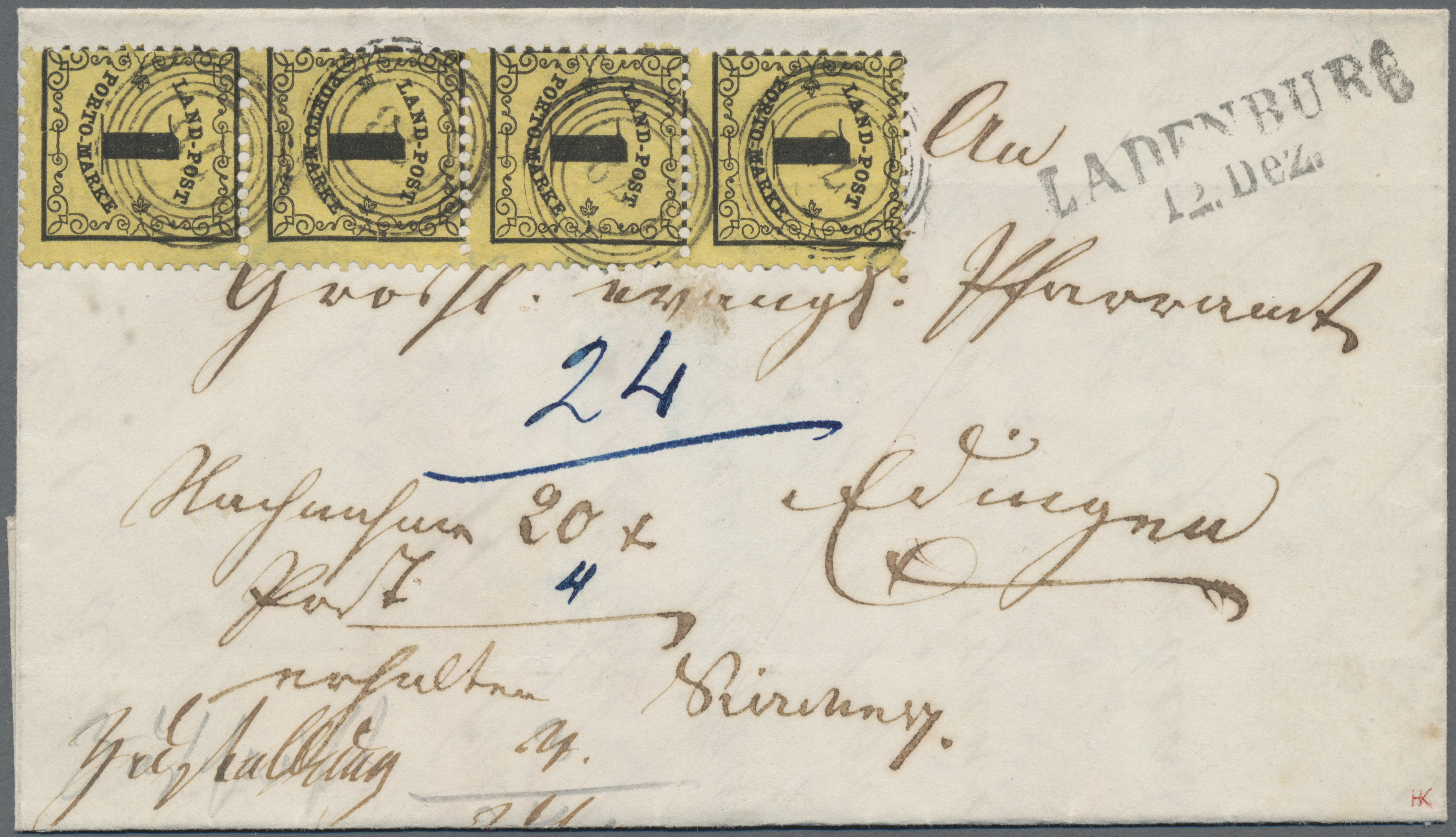 Lot 00111 - Baden - Landpostmarken  -  Auktionshaus Christoph Gärtner GmbH & Co. KG Intenational Rarities and contains lots from the collection of Peter Zgonc