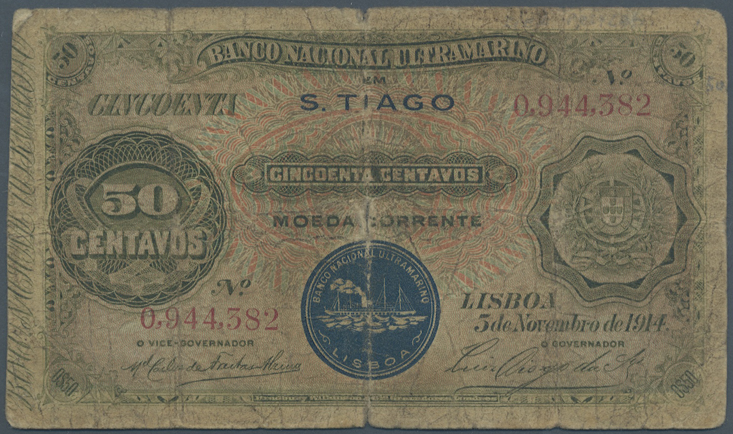 Lot 00106 - Cape Verde / Kap Verde | Banknoten  -  Auktionshaus Christoph Gärtner GmbH & Co. KG Sale #48 The Banknotes
