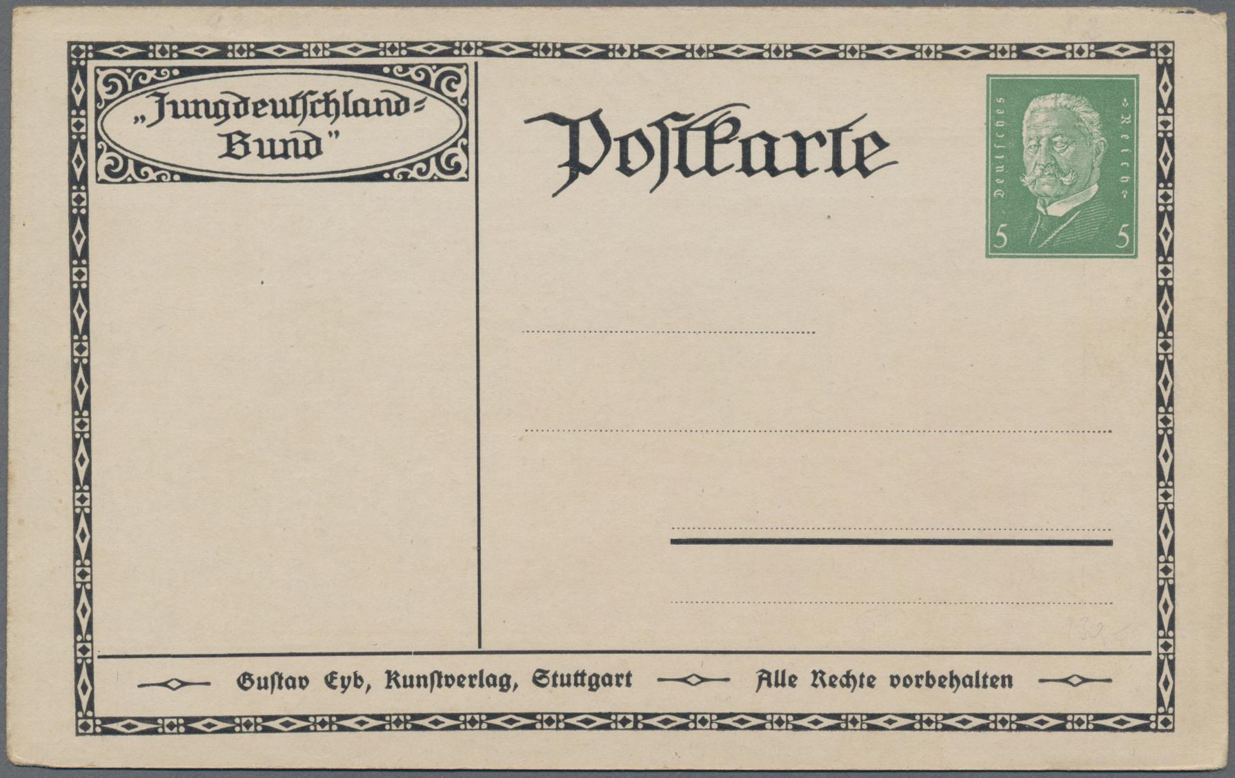 Lot 23466 - Deutsches Reich - Privatganzsachen  -  Auktionshaus Christoph Gärtner GmbH & Co. KG 50th Auction Anniversary Auction - Day 7