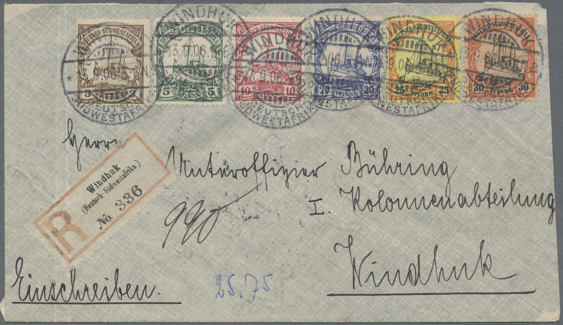 Lot 37199 - Deutsche Auslandspostämter + Kolonien  -  Auktionshaus Christoph Gärtner GmbH & Co. KG Collections Germany,  Collections Supplement, Surprise boxes #39 Day 7