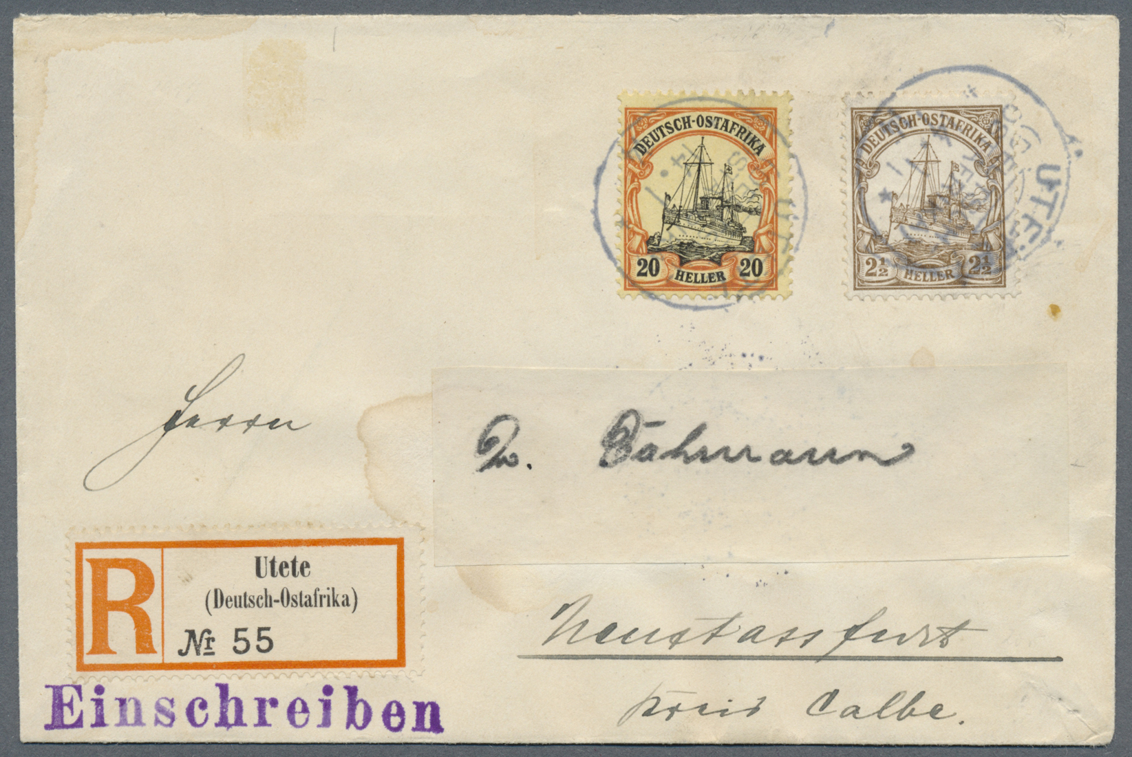 Lot 22294 - Deutsch-Ostafrika - Stempel  -  Auktionshaus Christoph Gärtner GmbH & Co. KG Single lots Germany + Picture Postcards. Auction #39 Day 5