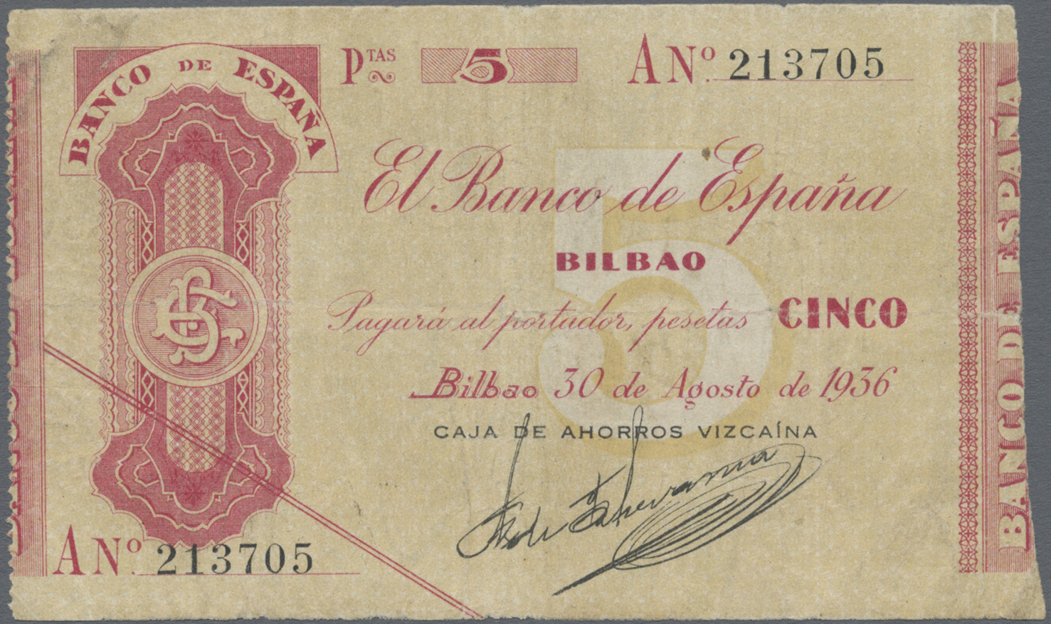 Lot 01548 - Spain / Spanien | Banknoten  -  Auktionshaus Christoph Gärtner GmbH & Co. KG Sale #46 The Banknotes Worldwide section of the 46th Christoph Gärtner Auction