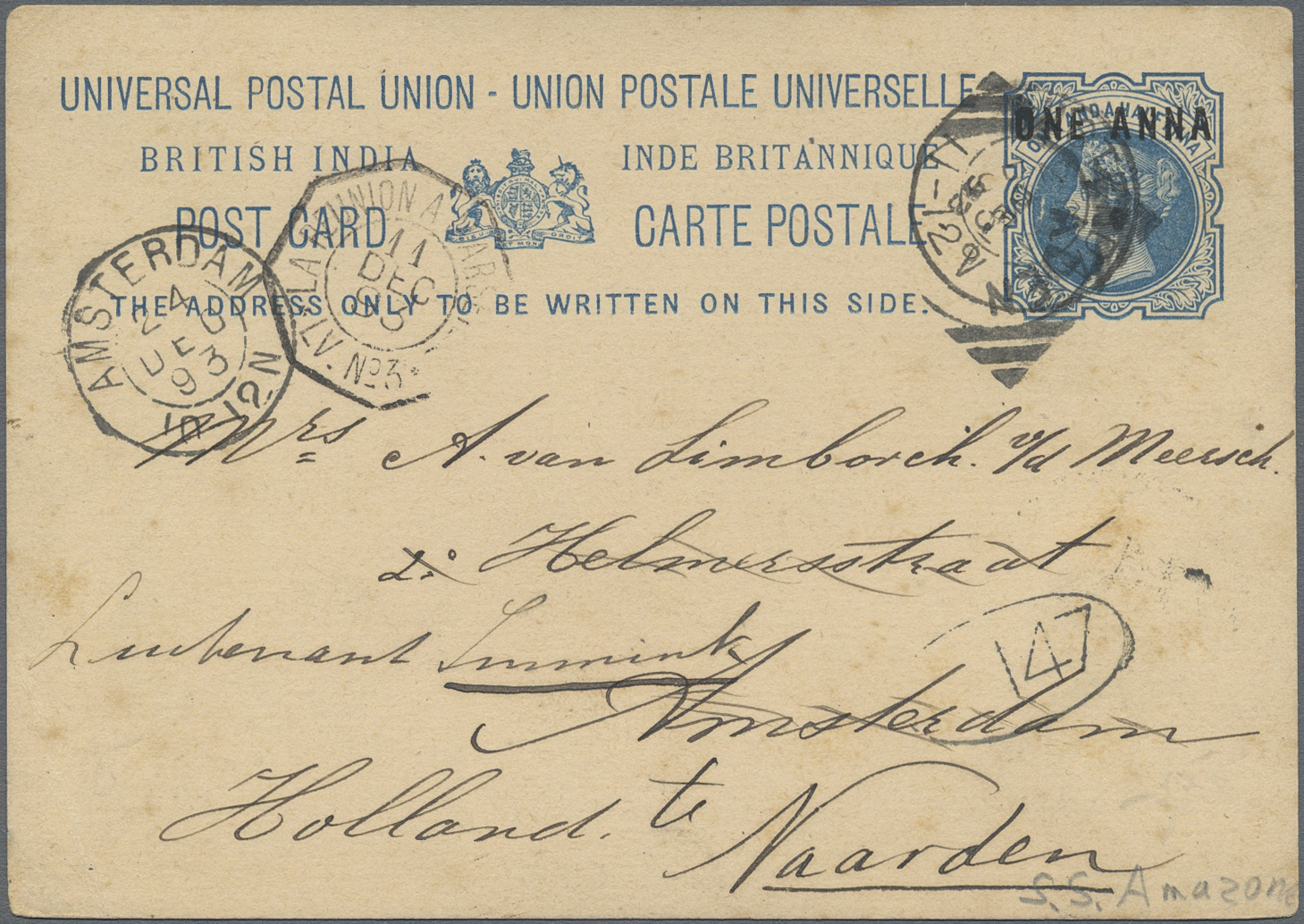 Lot 07119A - aden  -  Auktionshaus Christoph Gärtner GmbH & Co. KG Sale #43 Asia, Overseas, Air & Ships, Mail, Spain, Day 4