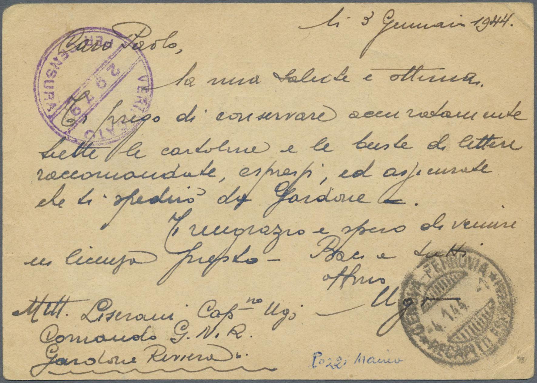 Lot 17092 - Italien - Militärpostmarken: Nationalgarde  -  Auktionshaus Christoph Gärtner GmbH & Co. KG Single lots Philately Overseas & Europe. Auction #39 Day 4