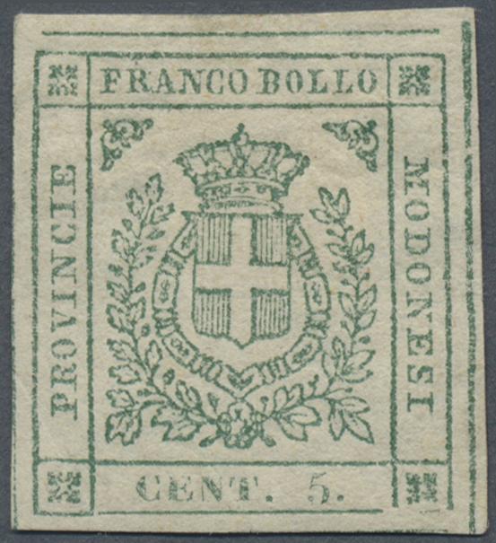 Lot 16924 - Italien - Altitalienische Staaten: Modena  -  Auktionshaus Christoph Gärtner GmbH & Co. KG Single lots Philately Overseas & Europe. Auction #39 Day 4