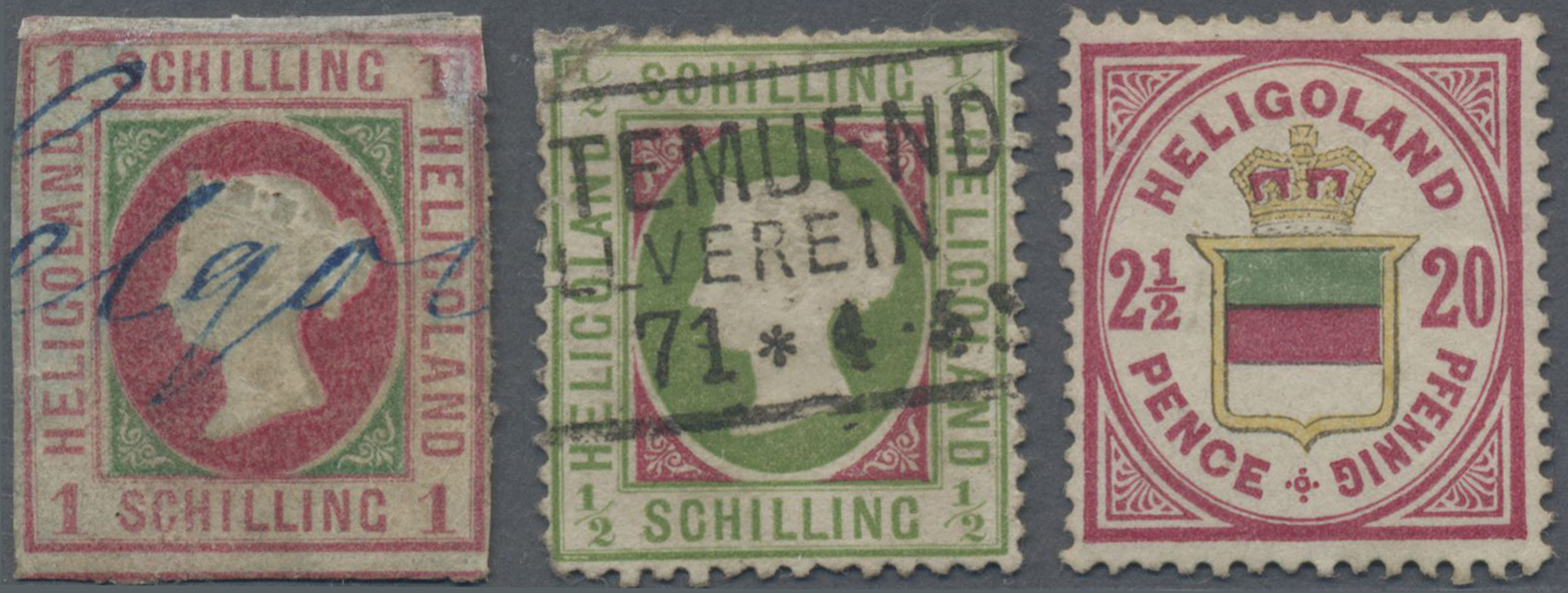 Lot 36257 - Helgoland - Marken und Briefe  -  Auktionshaus Christoph Gärtner GmbH & Co. KG Sale #44 Collections Germany