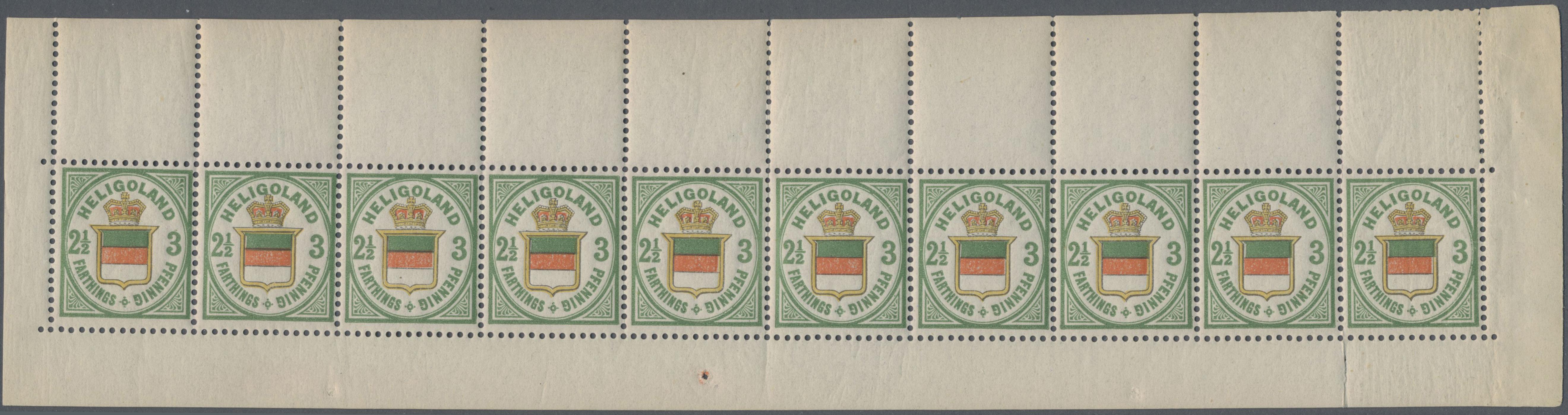Lot 36257 - Helgoland - Marken und Briefe  -  Auktionshaus Christoph Gärtner GmbH & Co. KG Sale #44 Collections Germany