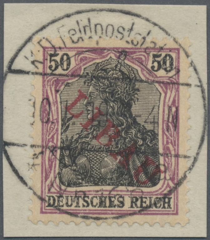 Lot 18129 - Deutsche Besetzung I. WK: Postgebiet Ober. Ost - Libau  -  Auktionshaus Christoph Gärtner GmbH & Co. KG Sale #45- GERMANY
