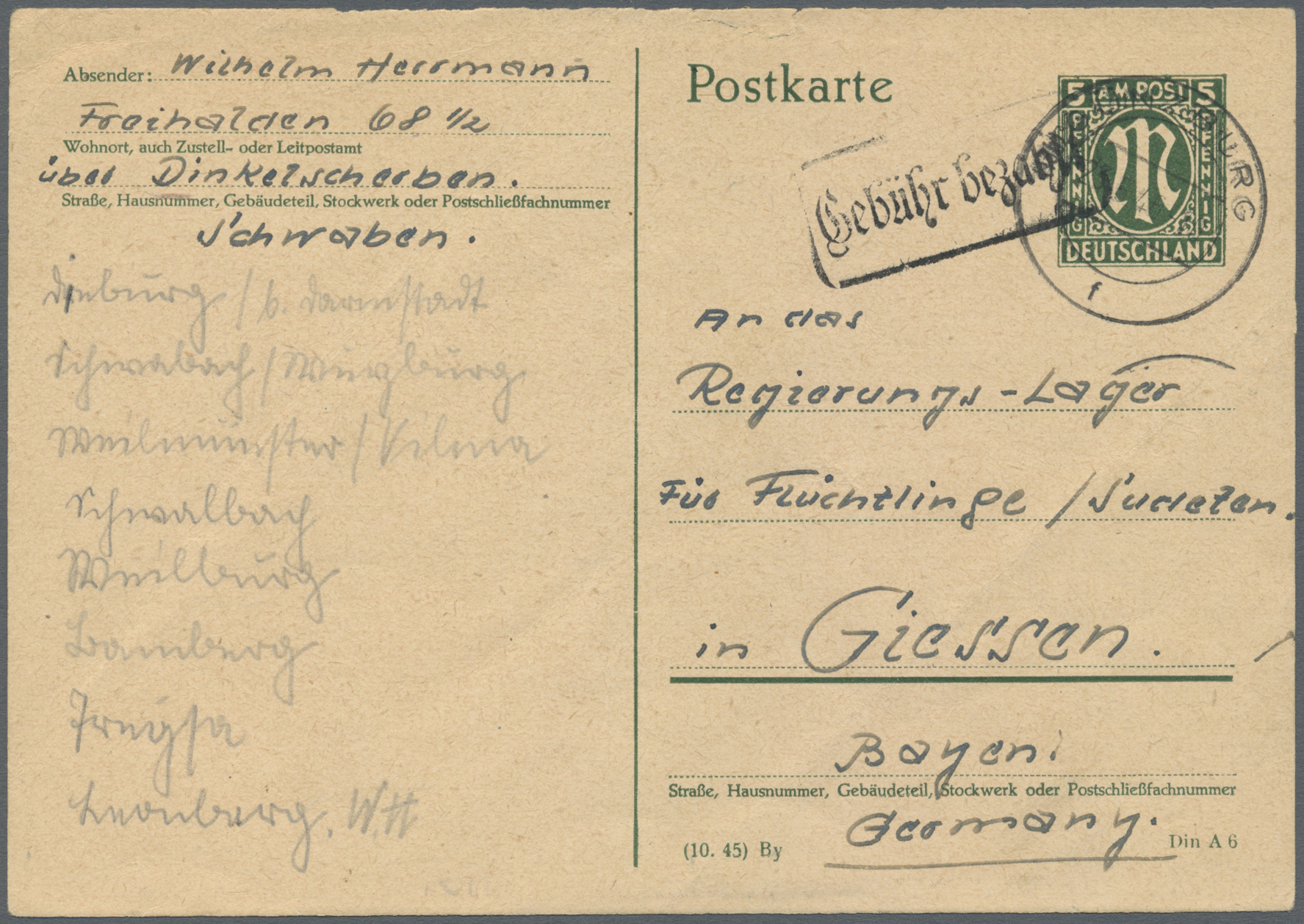 Lot 20795 - Bizone - Ganzsachen  -  Auktionshaus Christoph Gärtner GmbH & Co. KG Auction #40 Germany, Picture Post Cards, Collections Overseas, Thematics