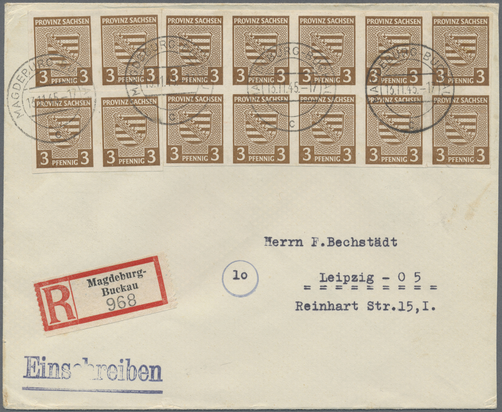 Lot 24122 - Sowjetische Zone - Provinz Sachsen  -  Auktionshaus Christoph Gärtner GmbH & Co. KG Single lots Germany + Picture Postcards. Auction #39 Day 5