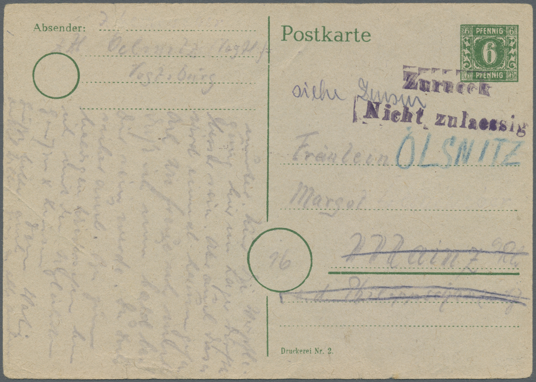Lot 20173 - Sowjetische Zone - Ganzsachen  -  Auktionshaus Christoph Gärtner GmbH & Co. KG Auction #40 Germany, Picture Post Cards, Collections Overseas, Thematics