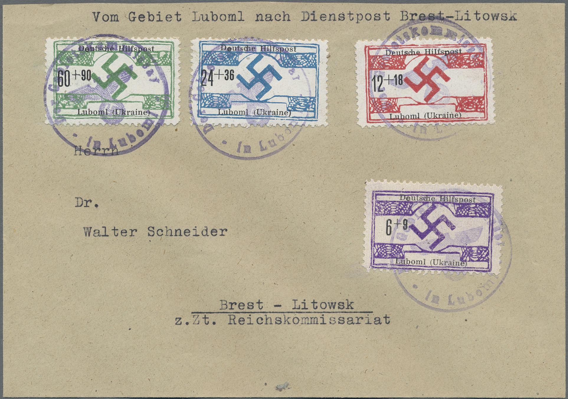 Lot 23857 - Dt. Besetzung II WK - Ukraine - Nordukraine  -  Auktionshaus Christoph Gärtner GmbH & Co. KG Sale #44 Germany, Picture Post cards