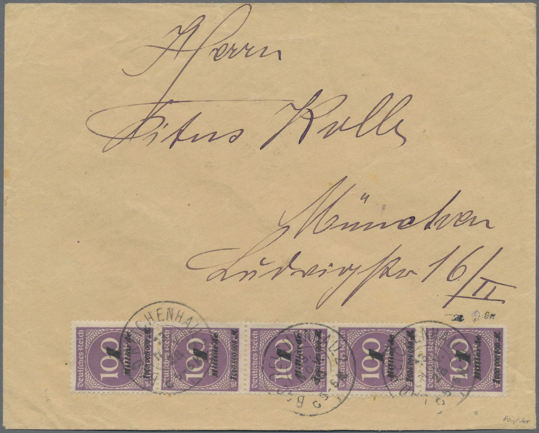 Lot 14517 - Deutsches Reich - Inflation  -  Auktionshaus Christoph Gärtner GmbH & Co. KG Sale #46 Single lots Germany - and picture post cards