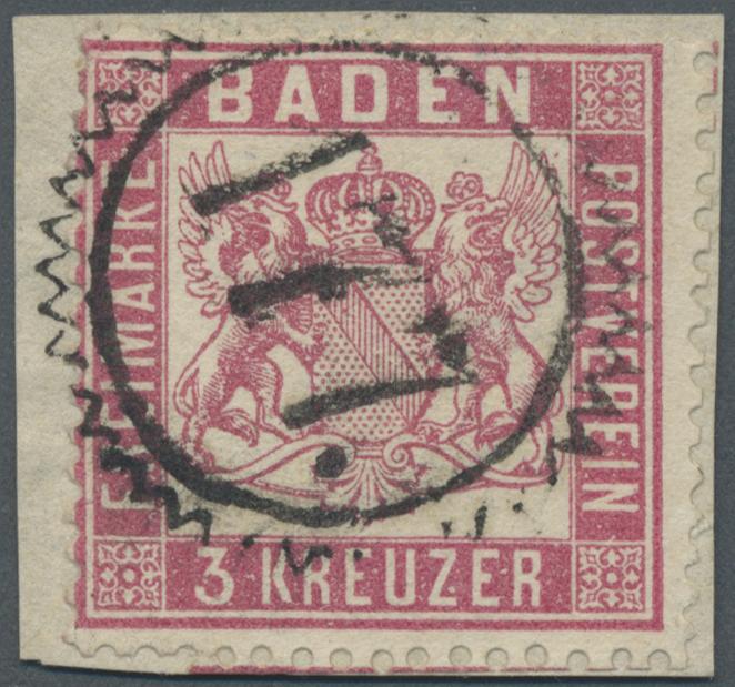 Lot 20079 - Baden - Nummernstempel  -  Auktionshaus Christoph Gärtner GmbH & Co. KG Single lots Germany + Picture Postcards. Auction #39 Day 5