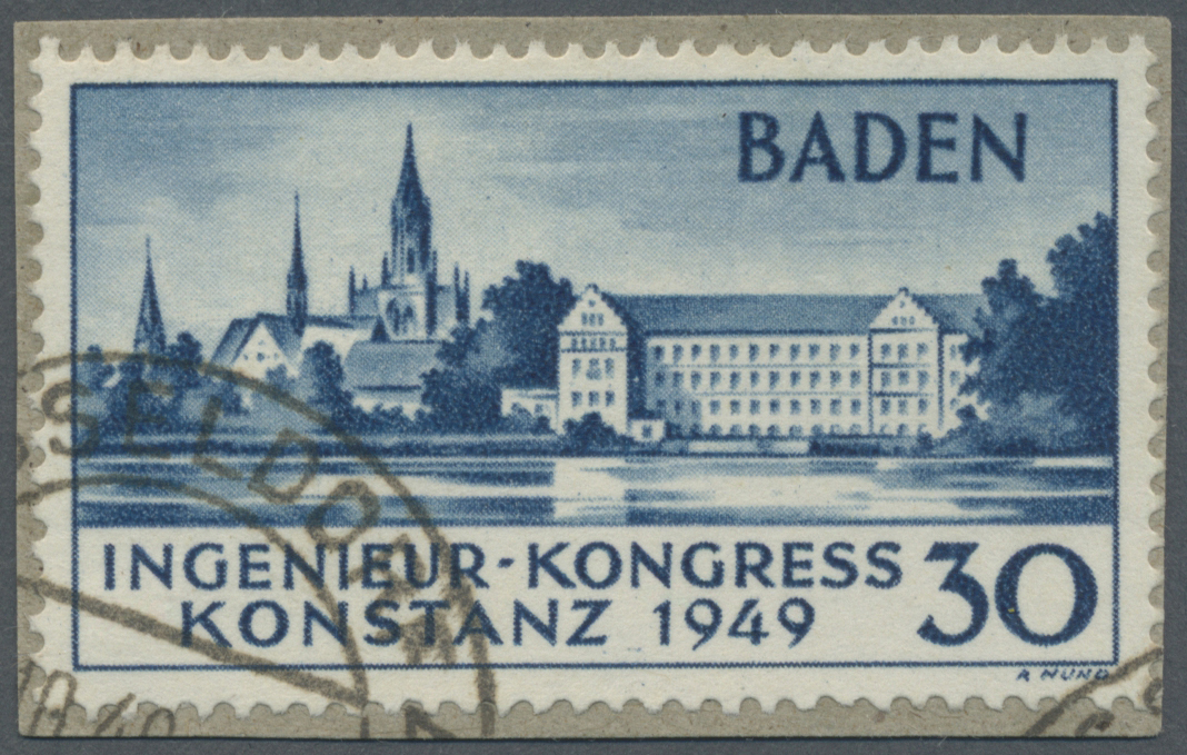 Lot 24944 - französische zone - baden  -  Auktionshaus Christoph Gärtner GmbH & Co. KG Single lots Germany + Picture Postcards. Auction #39 Day 5