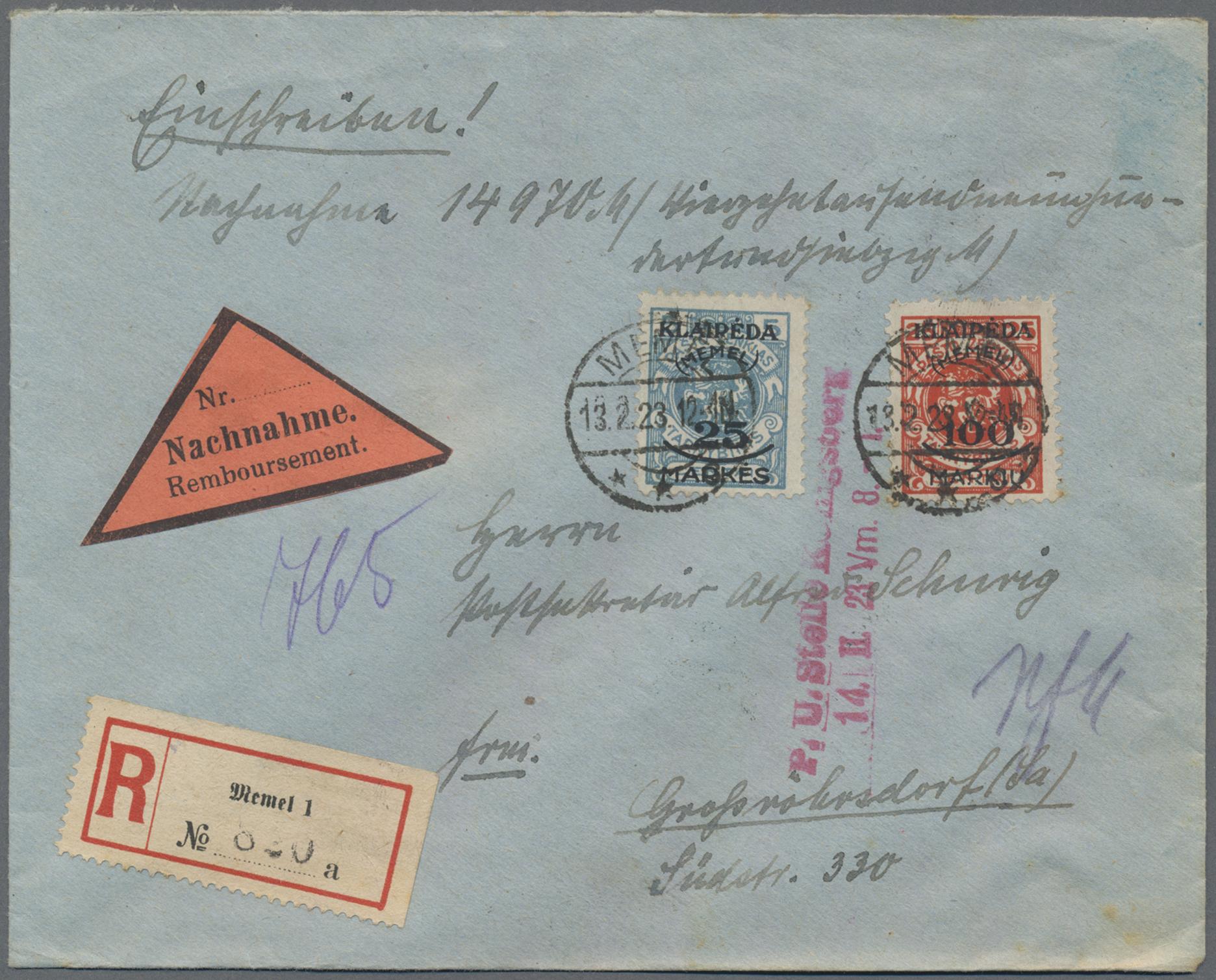 Lot 24875 - Memel  -  Auktionshaus Christoph Gärtner GmbH & Co. KG Sale #47 Colections: Germany