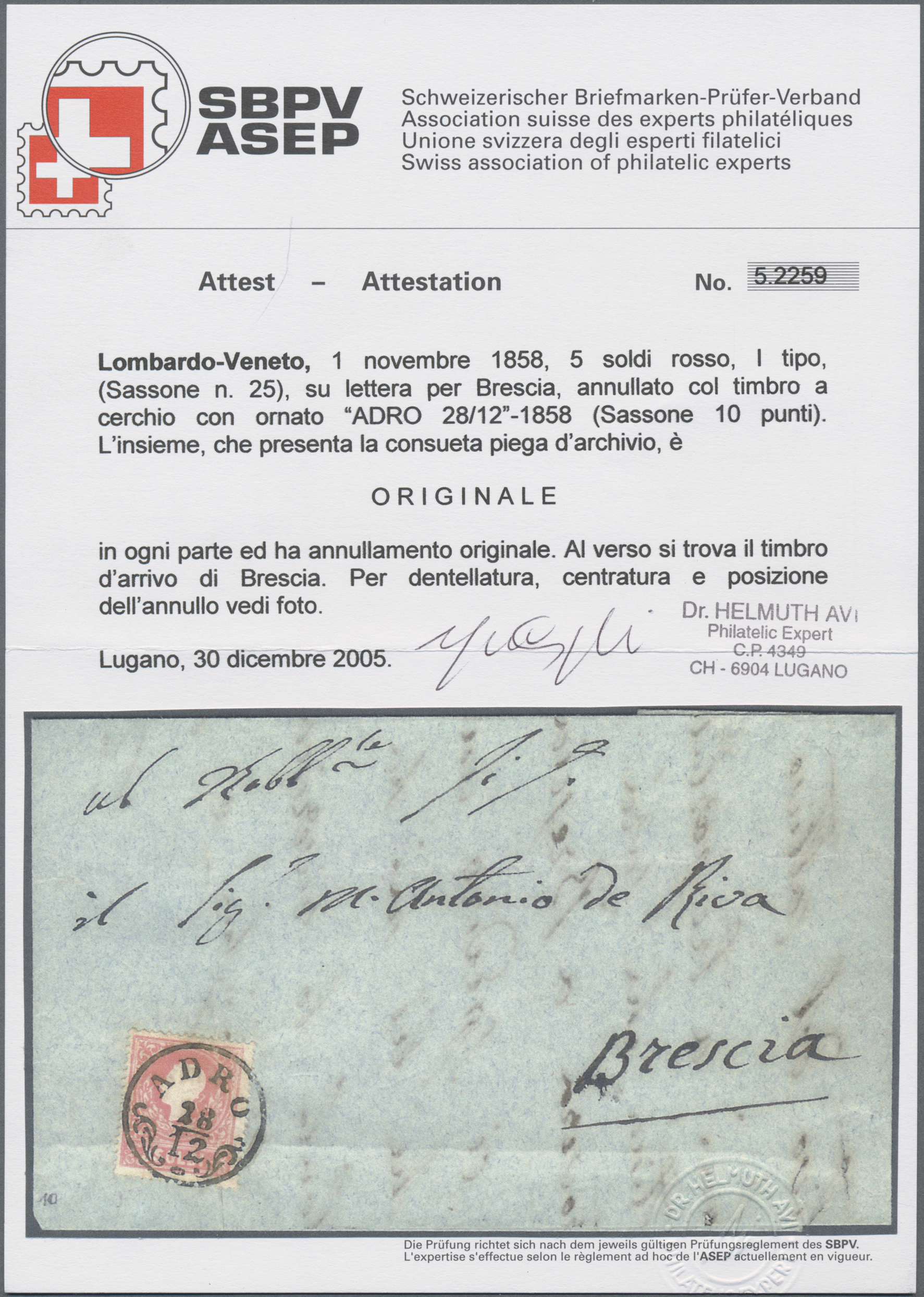 Lot 09572 - Österreich - Lombardei und Venetien  -  Auktionshaus Christoph Gärtner GmbH & Co. KG Sale #48 The Single Lots Philatelie
