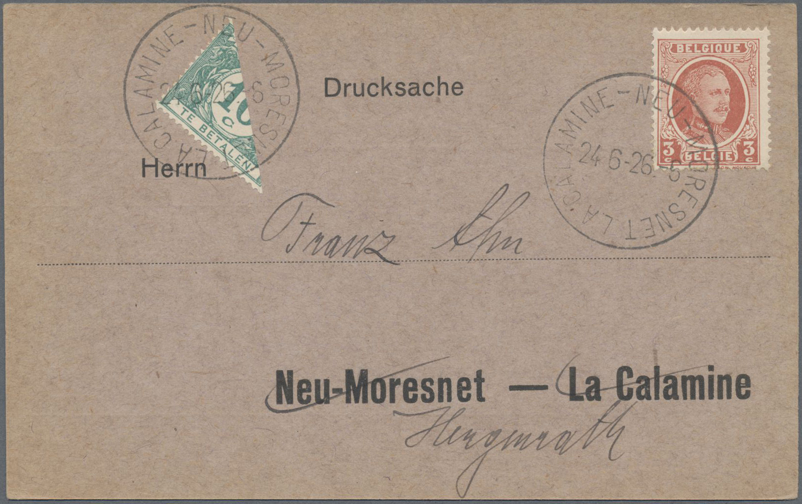 Lot 25492 - belgien  -  Auktionshaus Christoph Gärtner GmbH & Co. KG 50th Auction Anniversary Auction - Day 6