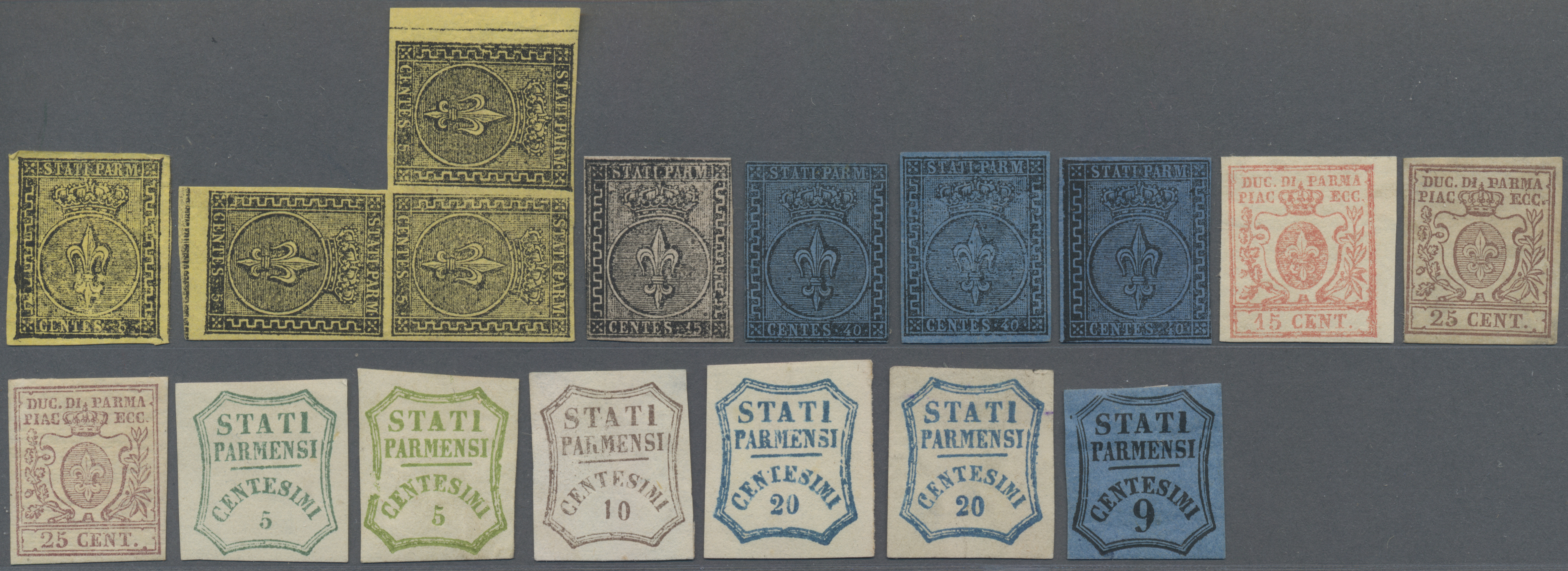 Lot 17191 - Italien - Altitalienische Staaten: Parma  -  Auktionshaus Christoph Gärtner GmbH & Co. KG Sale #48 collections Overseas  Airmail / Ship mail & Thematics