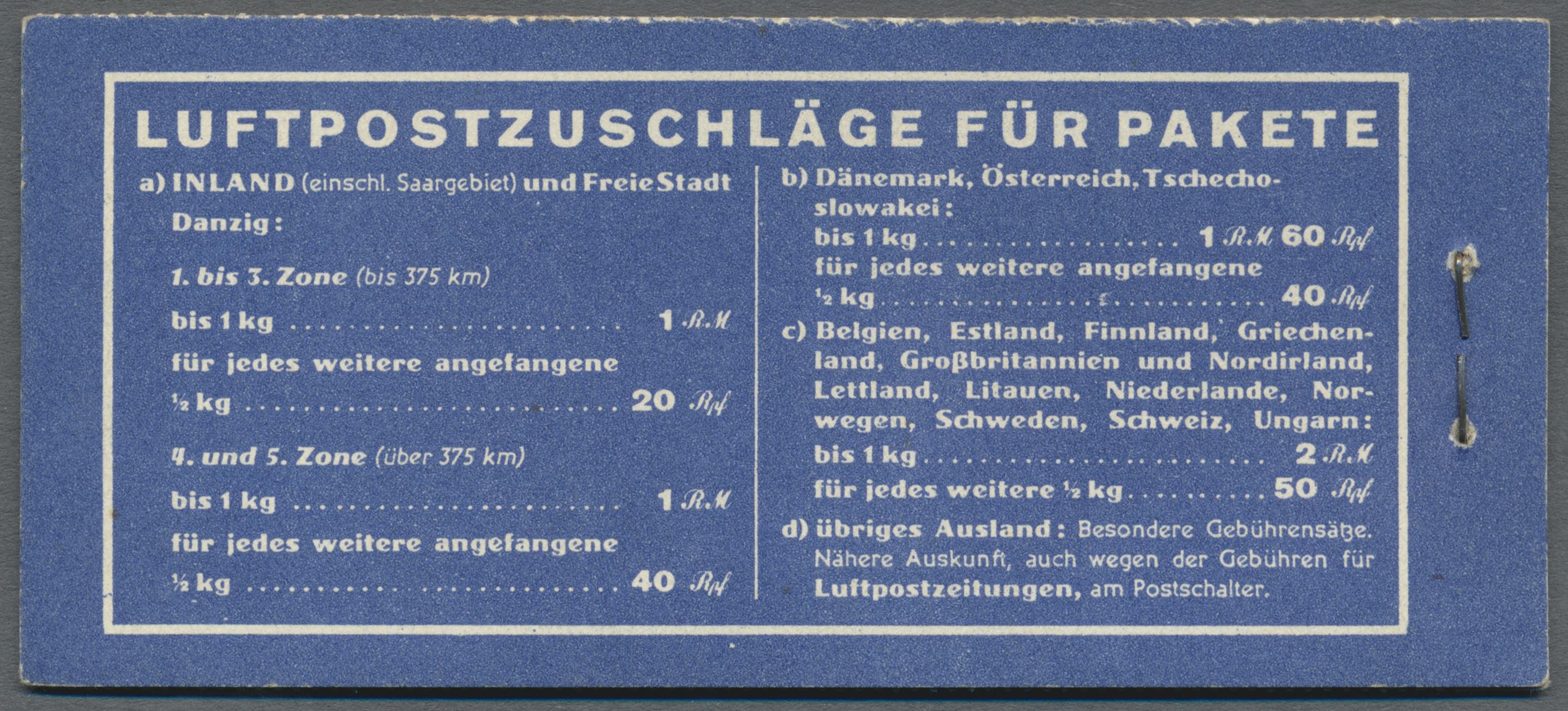 Lot 21613 - Deutsches Reich - Markenheftchen  -  Auktionshaus Christoph Gärtner GmbH & Co. KG Single lots Germany + Picture Postcards. Auction #39 Day 5