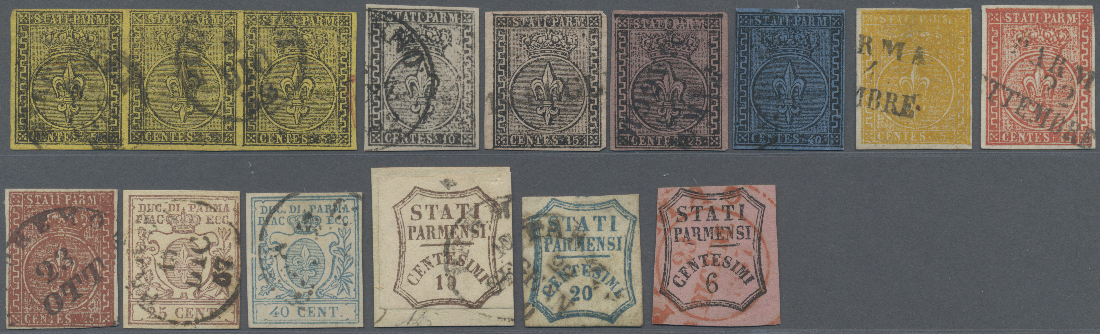 Lot 17195 - Italien - Altitalienische Staaten: Parma  -  Auktionshaus Christoph Gärtner GmbH & Co. KG Sale #48 collections Overseas  Airmail / Ship mail & Thematics