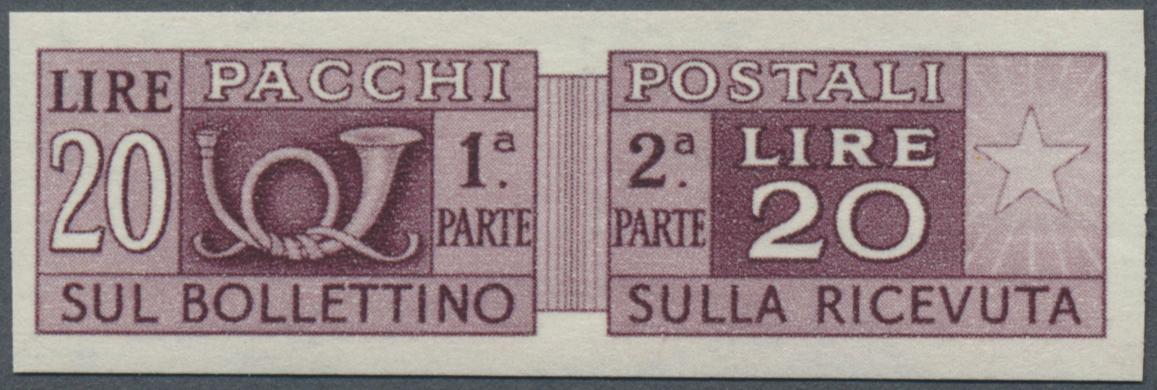 Lot 17103 - italien - paketmarken  -  Auktionshaus Christoph Gärtner GmbH & Co. KG Single lots Philately Overseas & Europe. Auction #39 Day 4